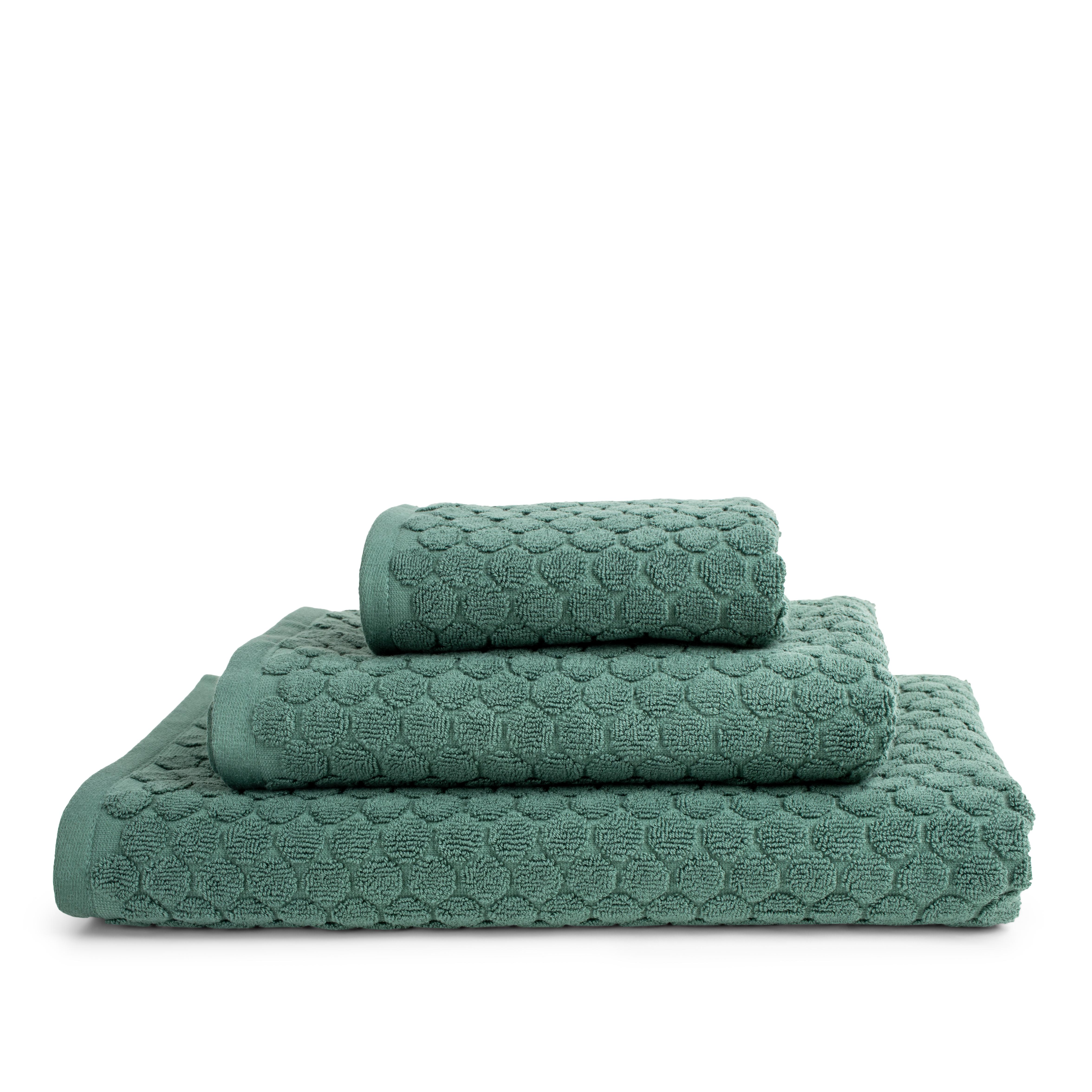 Nordstrand Classic Dot håndklæde, 50x100 cm, støvet grøn
