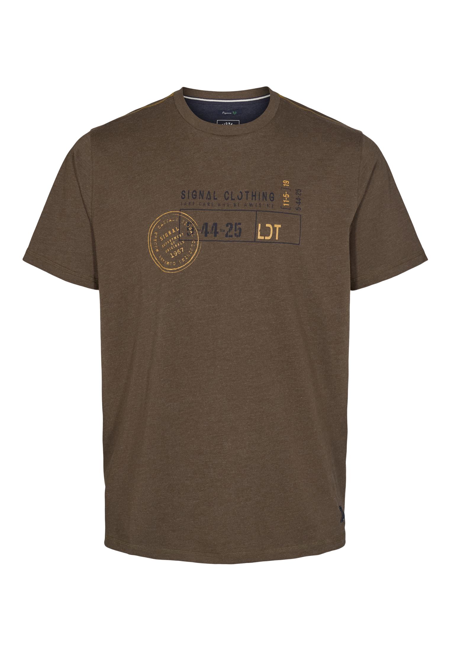 Signal Gavin Organic T-shirt, Dark Brown Melange, XL