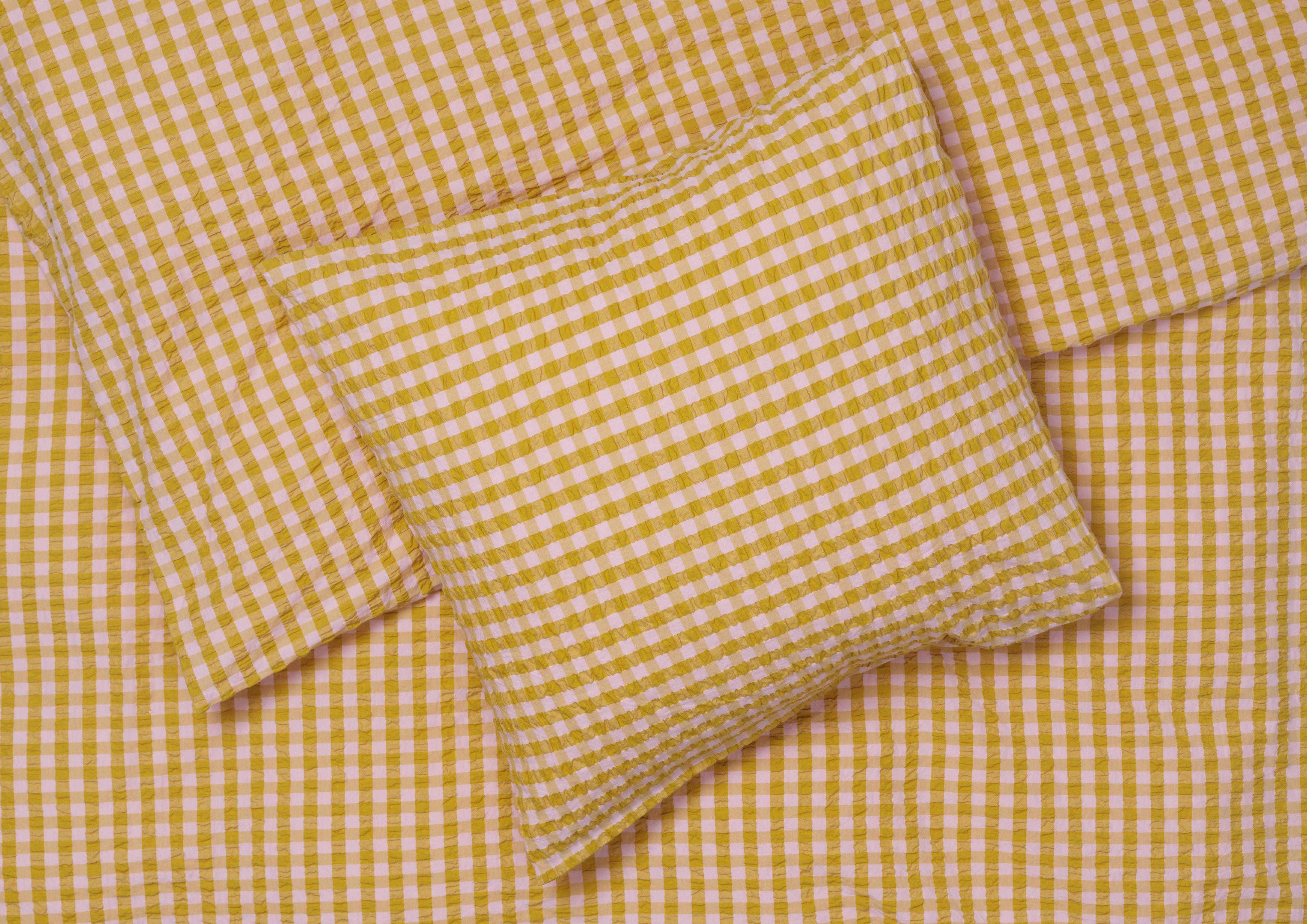 Juna Bæk&Bølge sengelinned, 140x200 cm, pink/okker