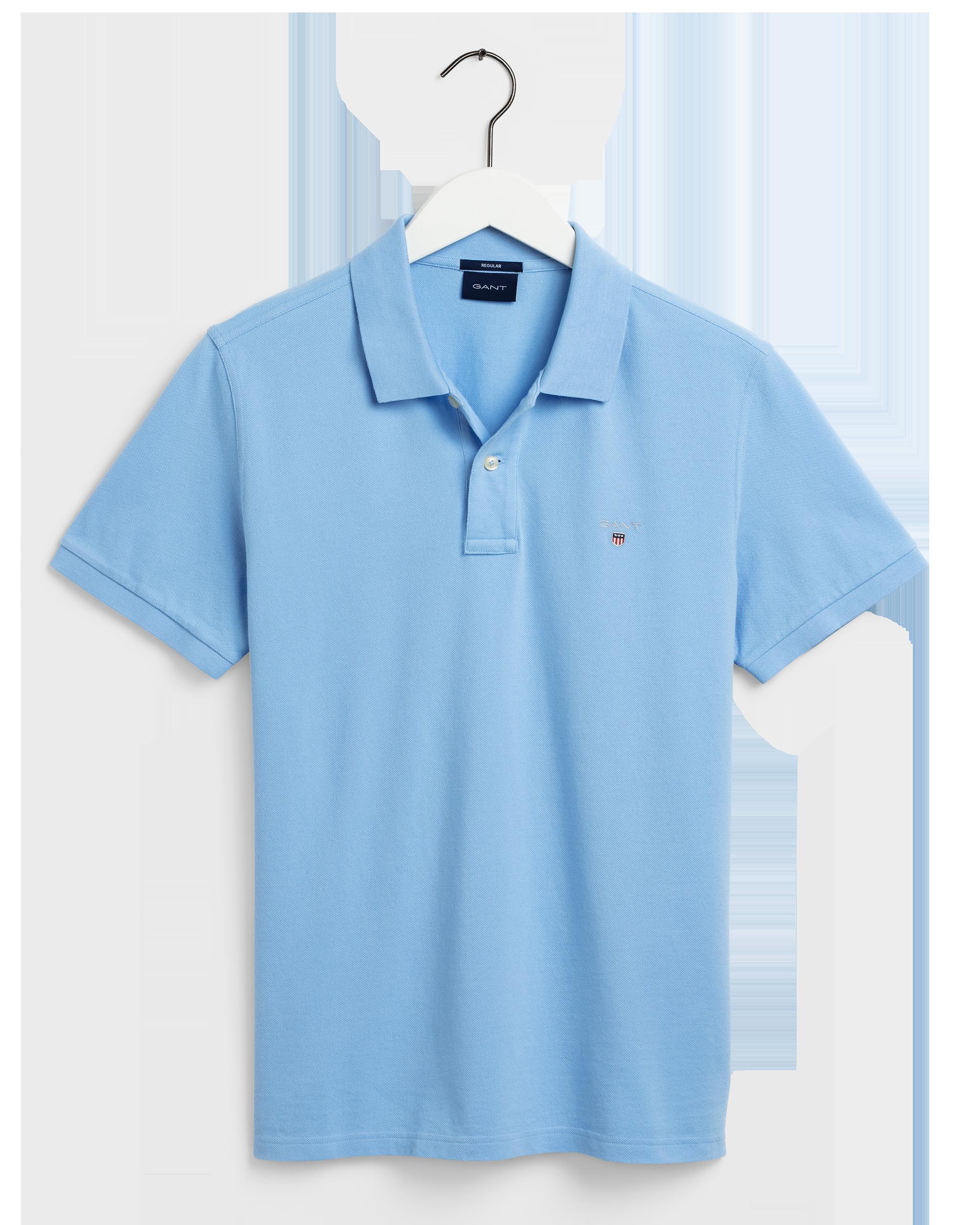 Gant Original Pique Polo T-shirt, Light Blue, XL