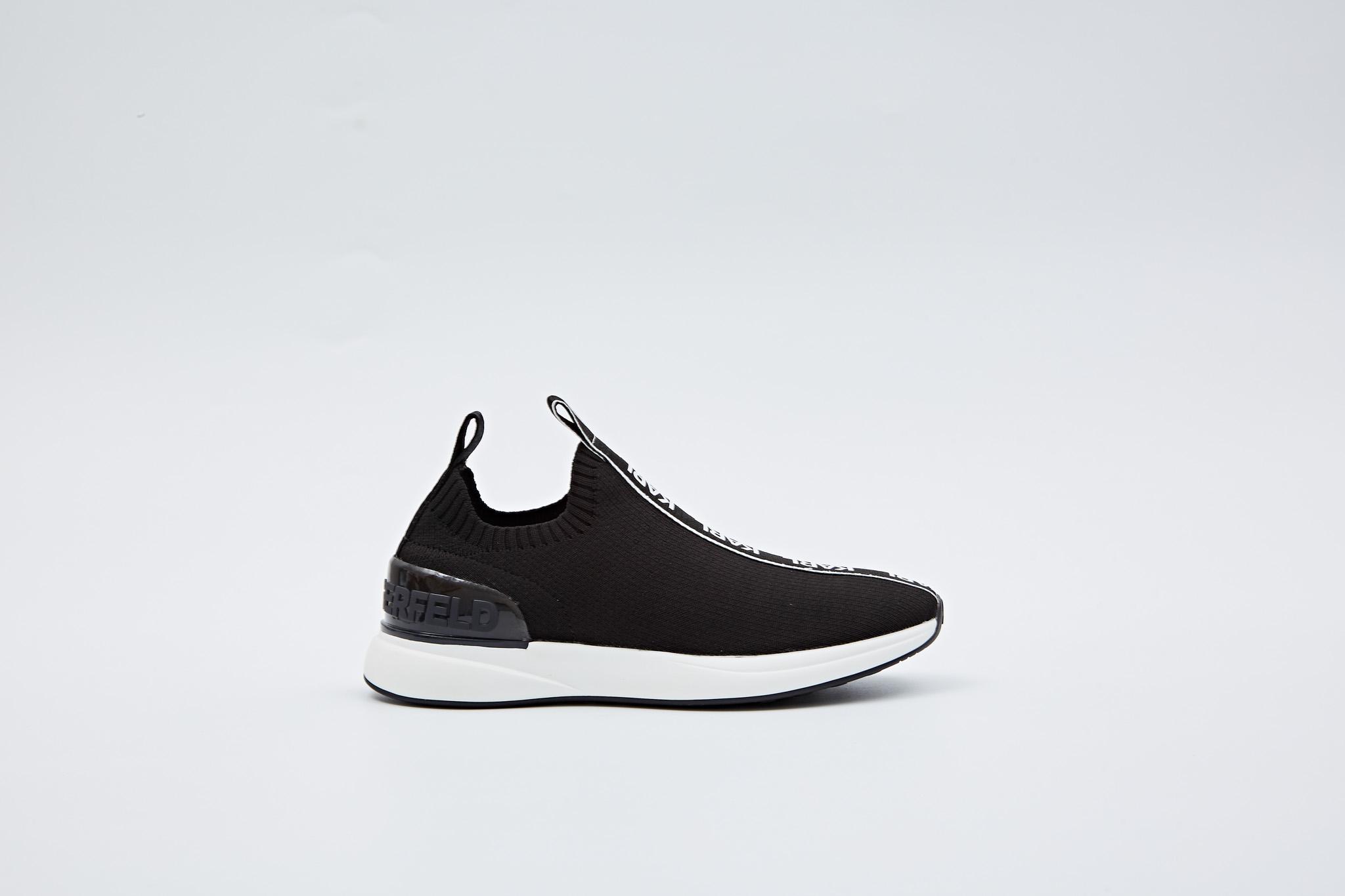 Karl Lagerfeld KL62115 sneakers, black knit textile, 36