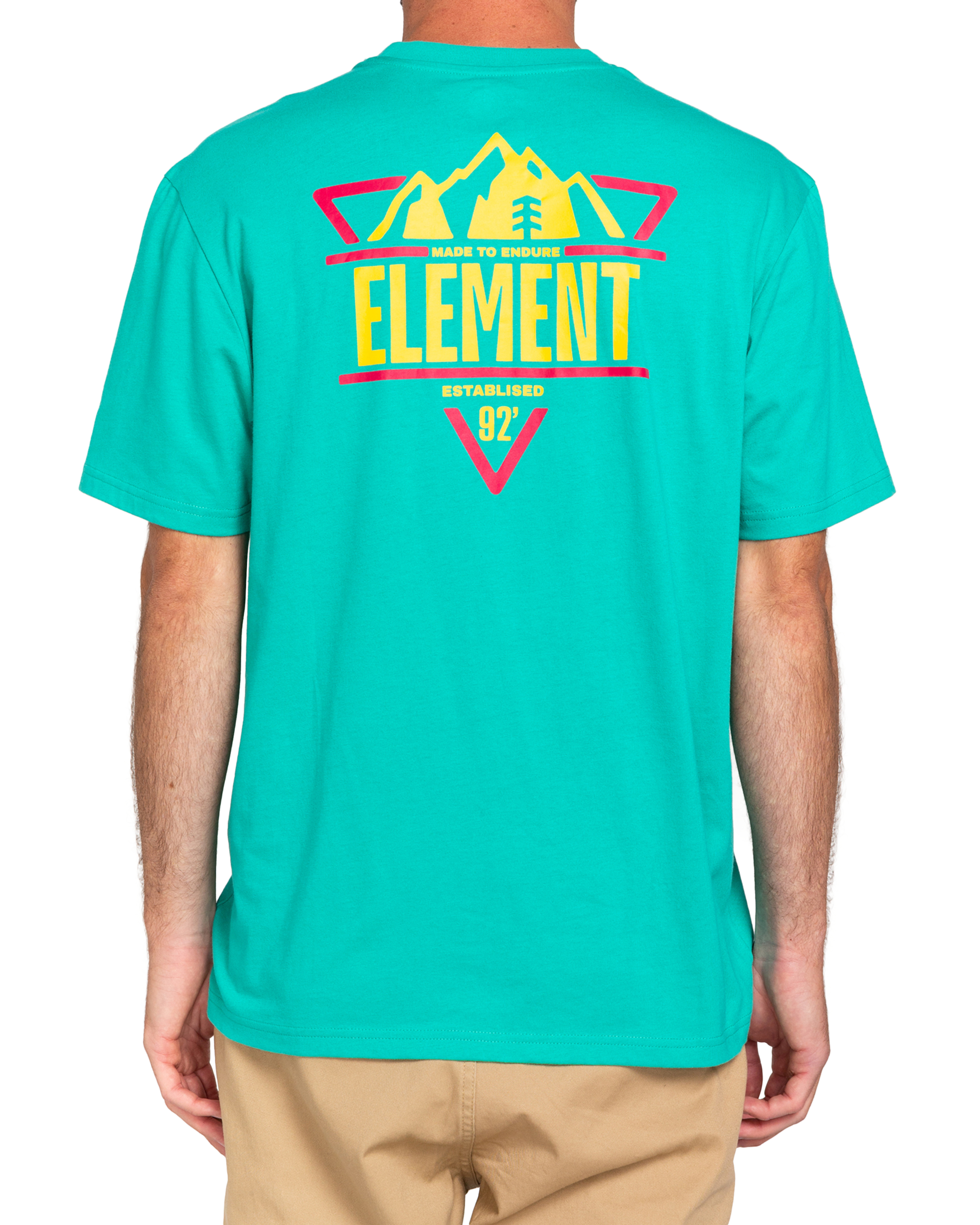 Elemant Grizzard t-shirt, green, x-small