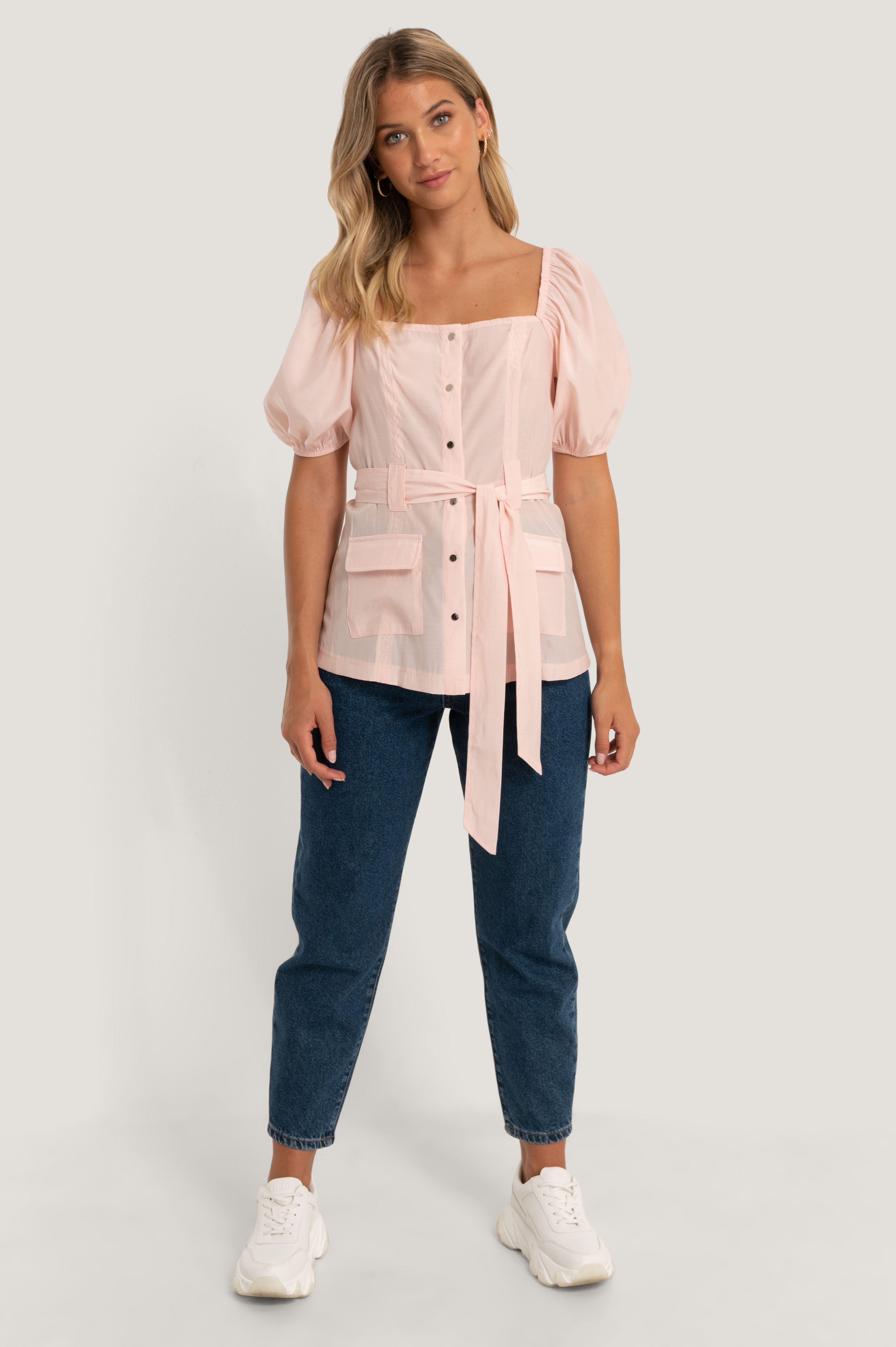 NA-KD skjortebluse, pink, 36