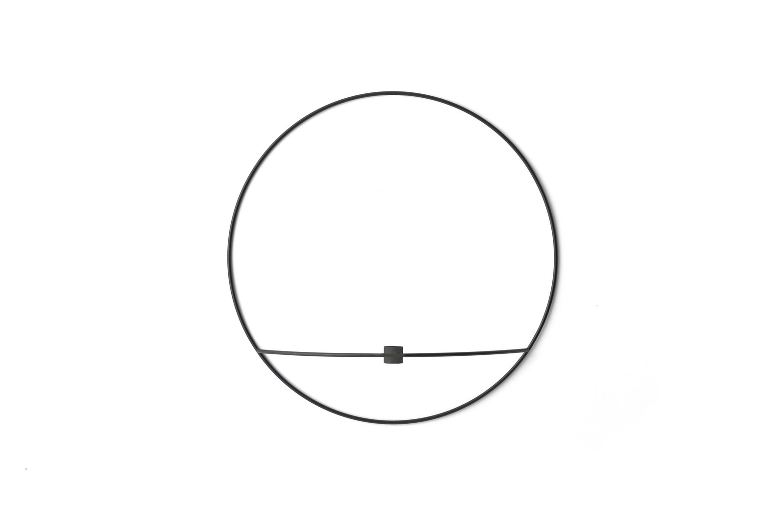 Menu POV Circle væglysestage, large, black