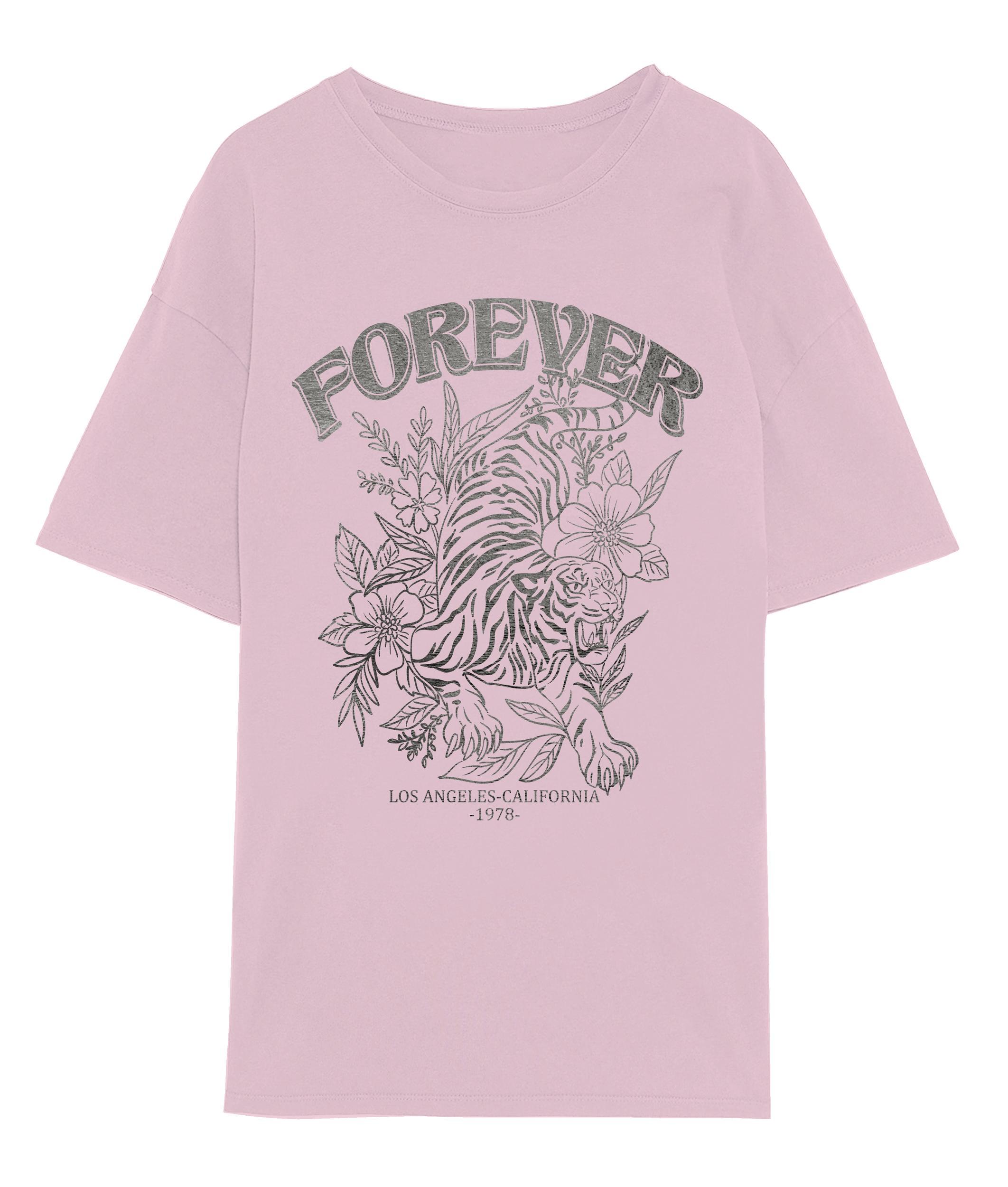 Vero Moda Forever oversized t-shirt, parfait pink, small