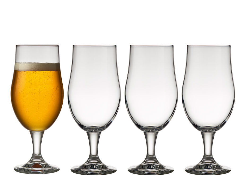 Lyngby-Glas Juvel ølglas, 490 ml, 4 stk