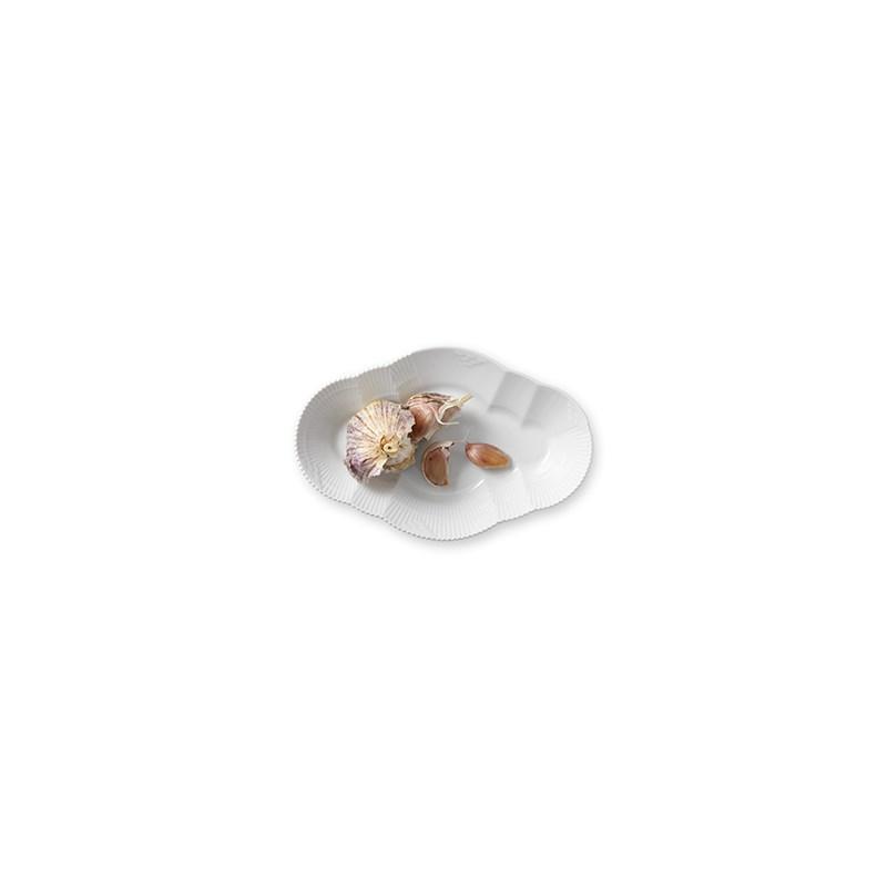 Royal Copenhagen Hvid Elements serveringsfad, 23 cm