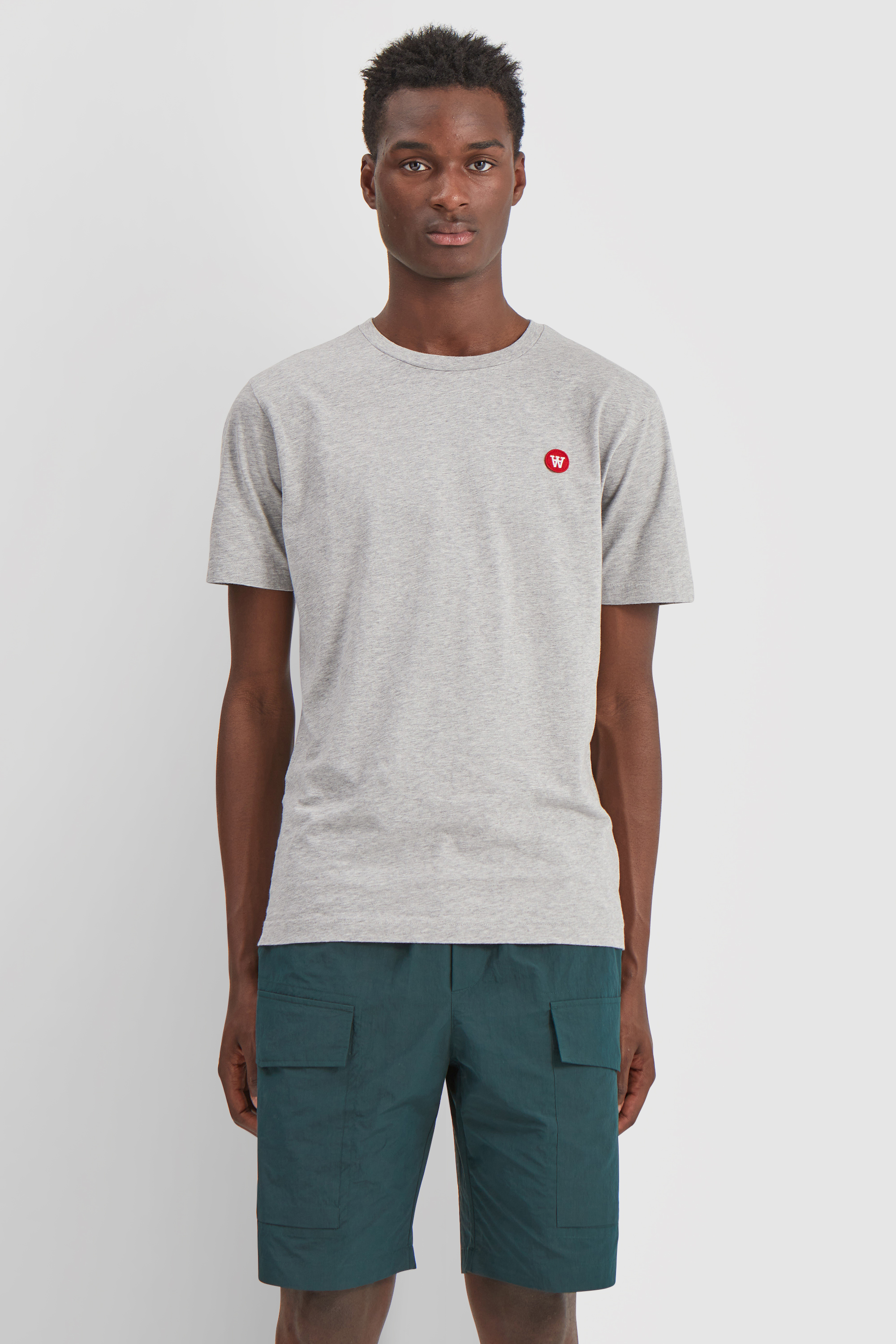Wood Wood Double A Ace t-shirt, grey melange, small