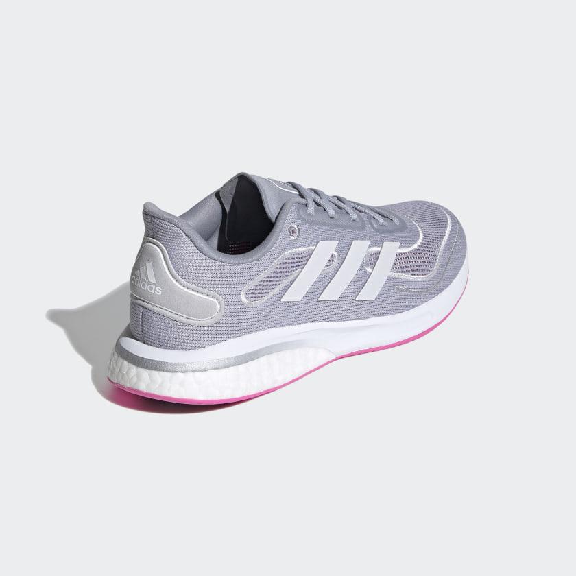 Adidas Supernova sko, halo silver/cloud white/screaming pink, 40 2/3