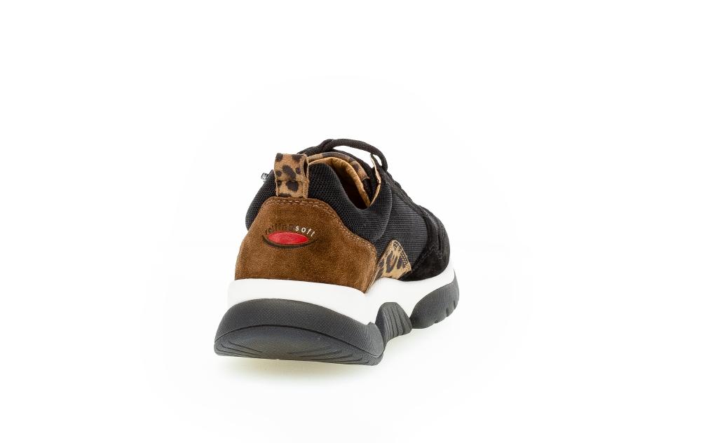 Gabor 76.938.47 sneakers, black/savanne, 37.5