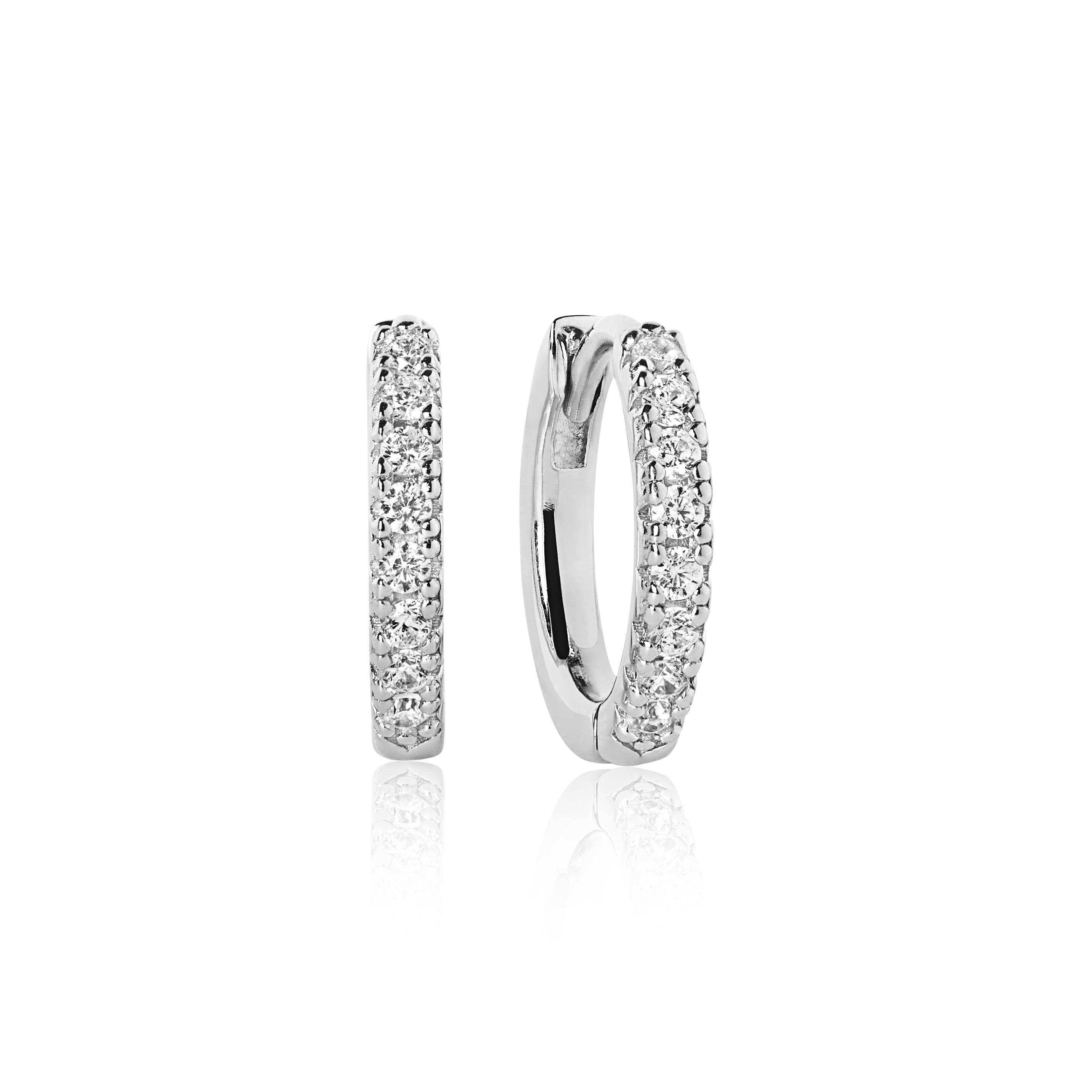 Sif Jakobs Jewellery Ellera øreringe, sølv/hvid