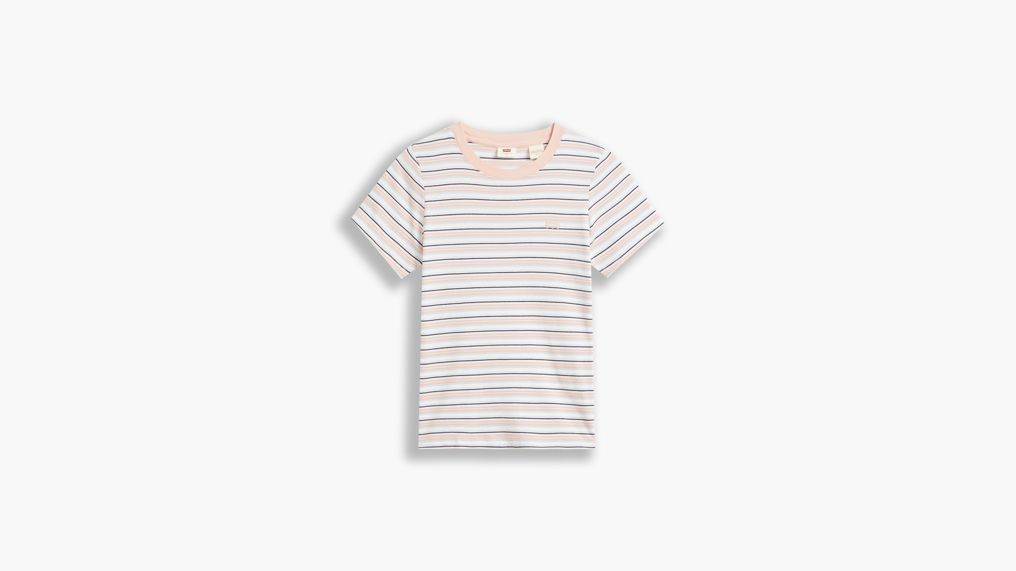 Levi's SS Rib Baby t-shirt, coco stripe evening sands, small