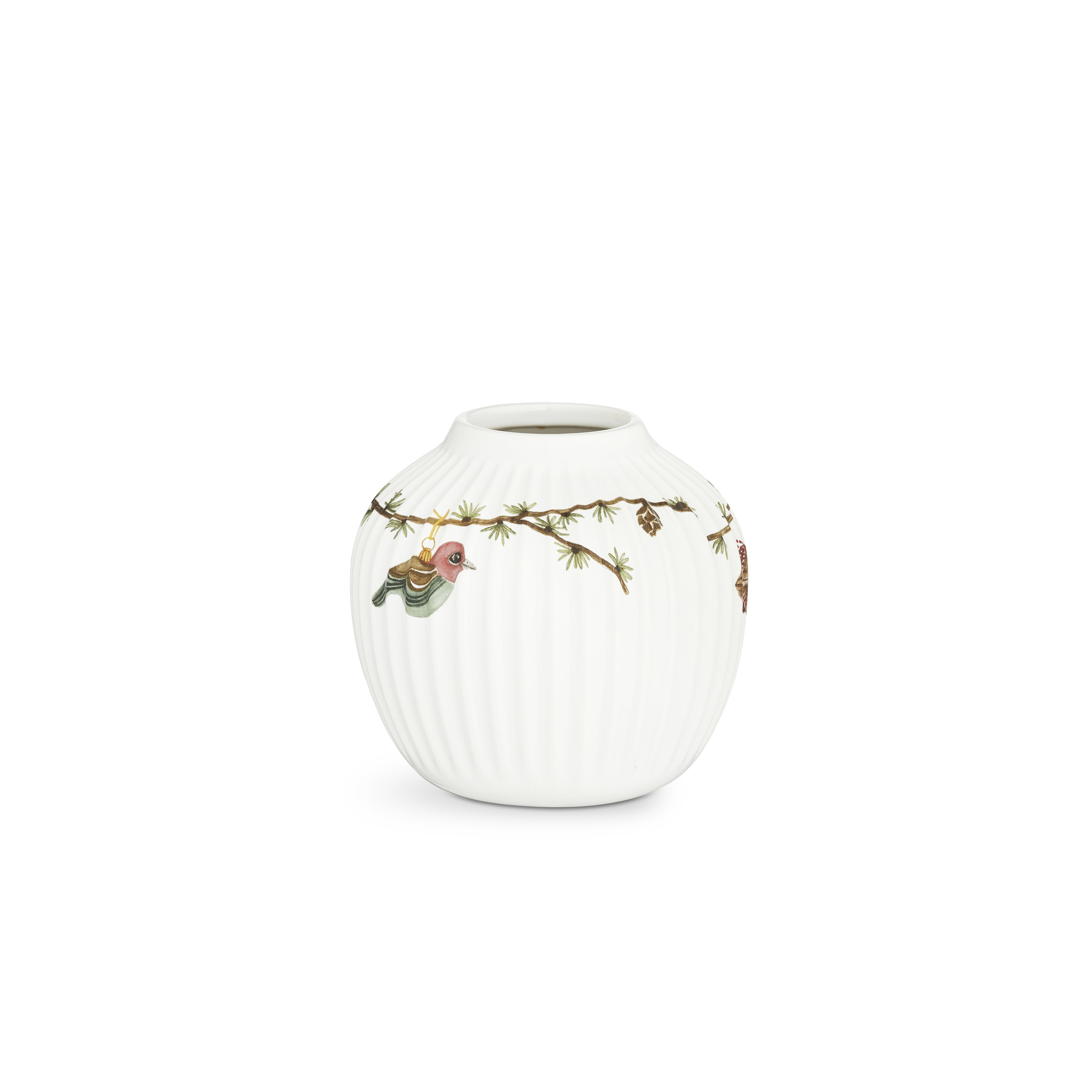 Kähler Hammershøi Jul vase, 11 cm, hvid