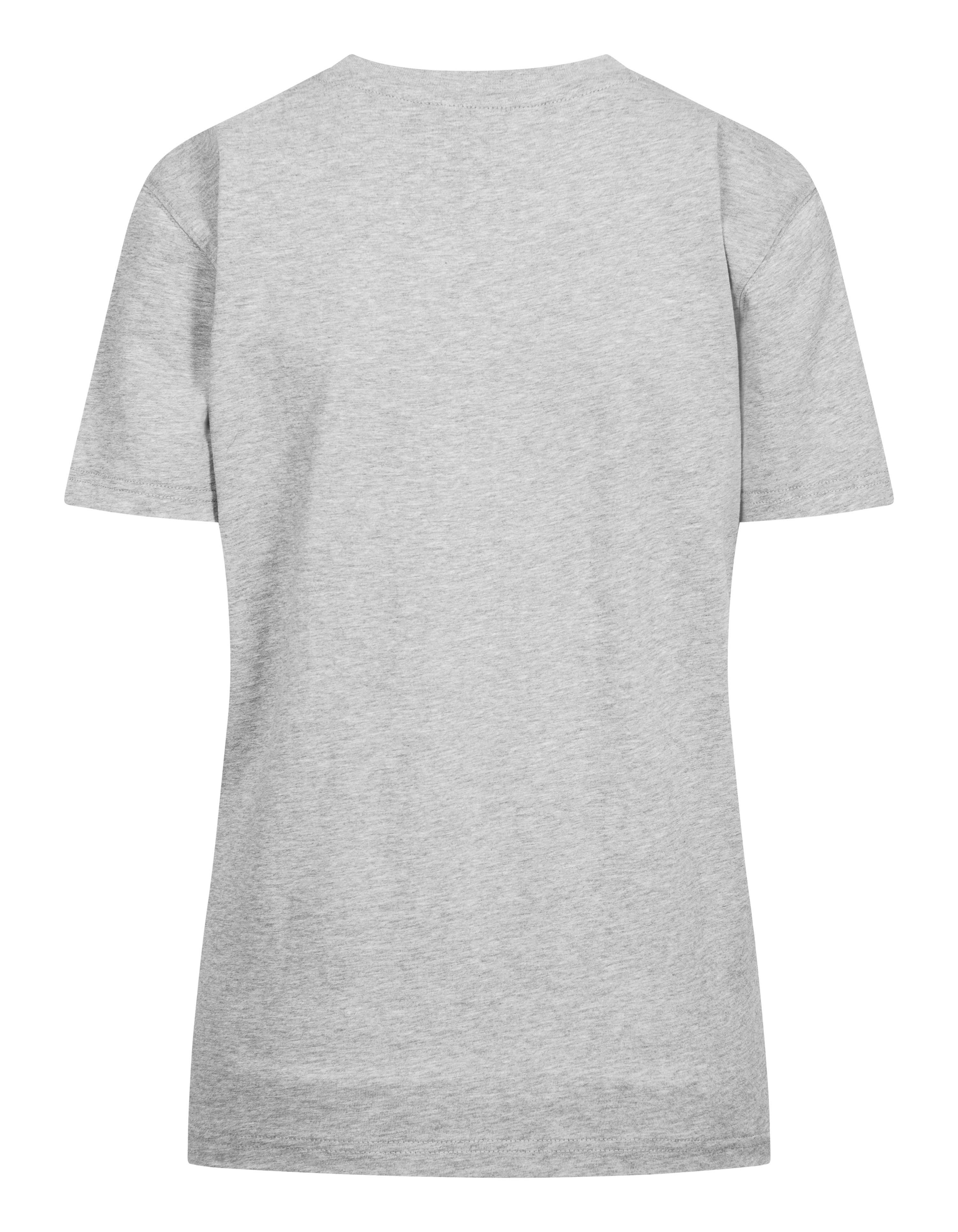Han Kjøbenhavn Casual Tee, light grey melange logo, large