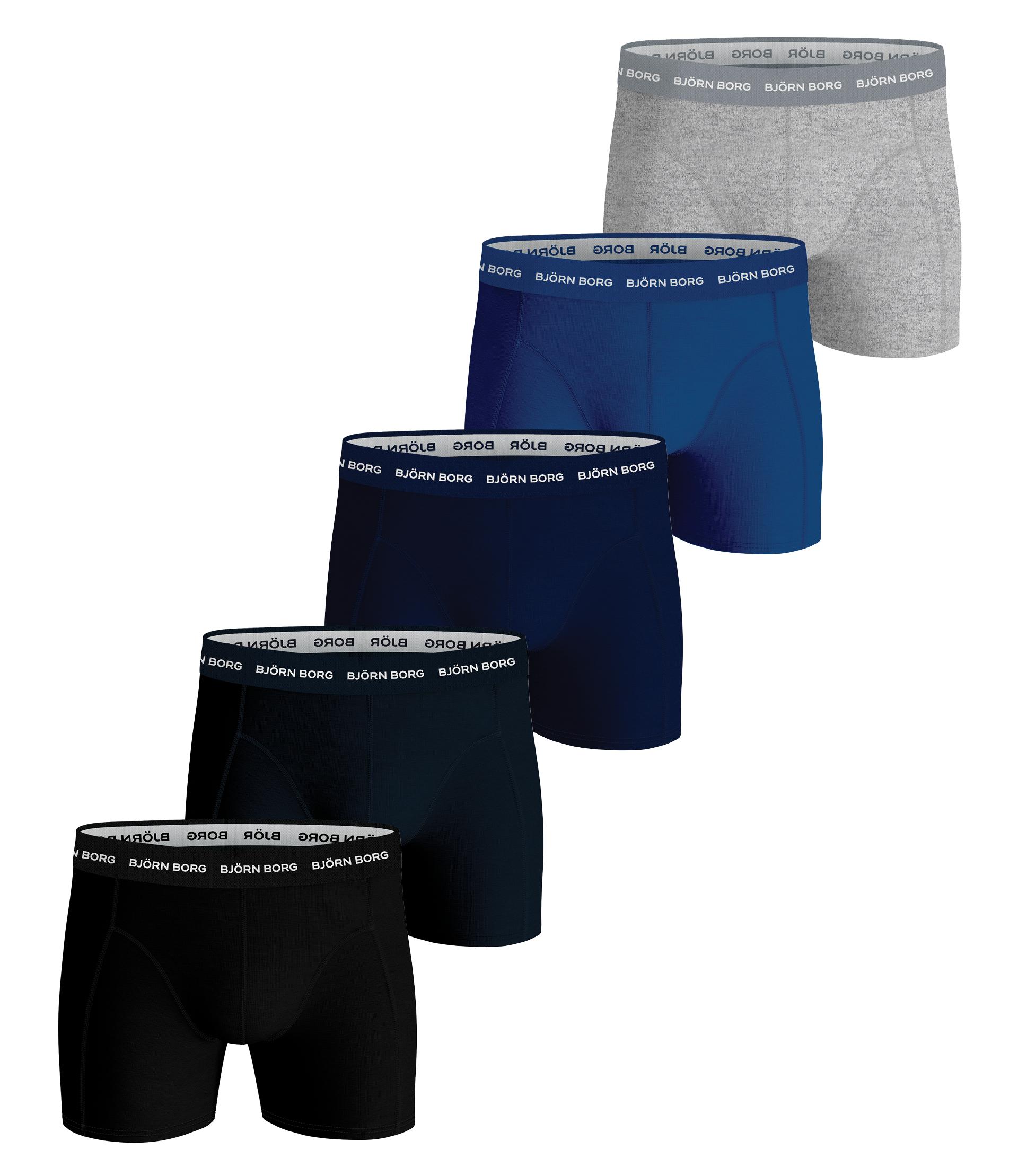 Bjørn Borg Essential 5-pack Underbukser, Sort/Blå/Melange/Navy Blå, S