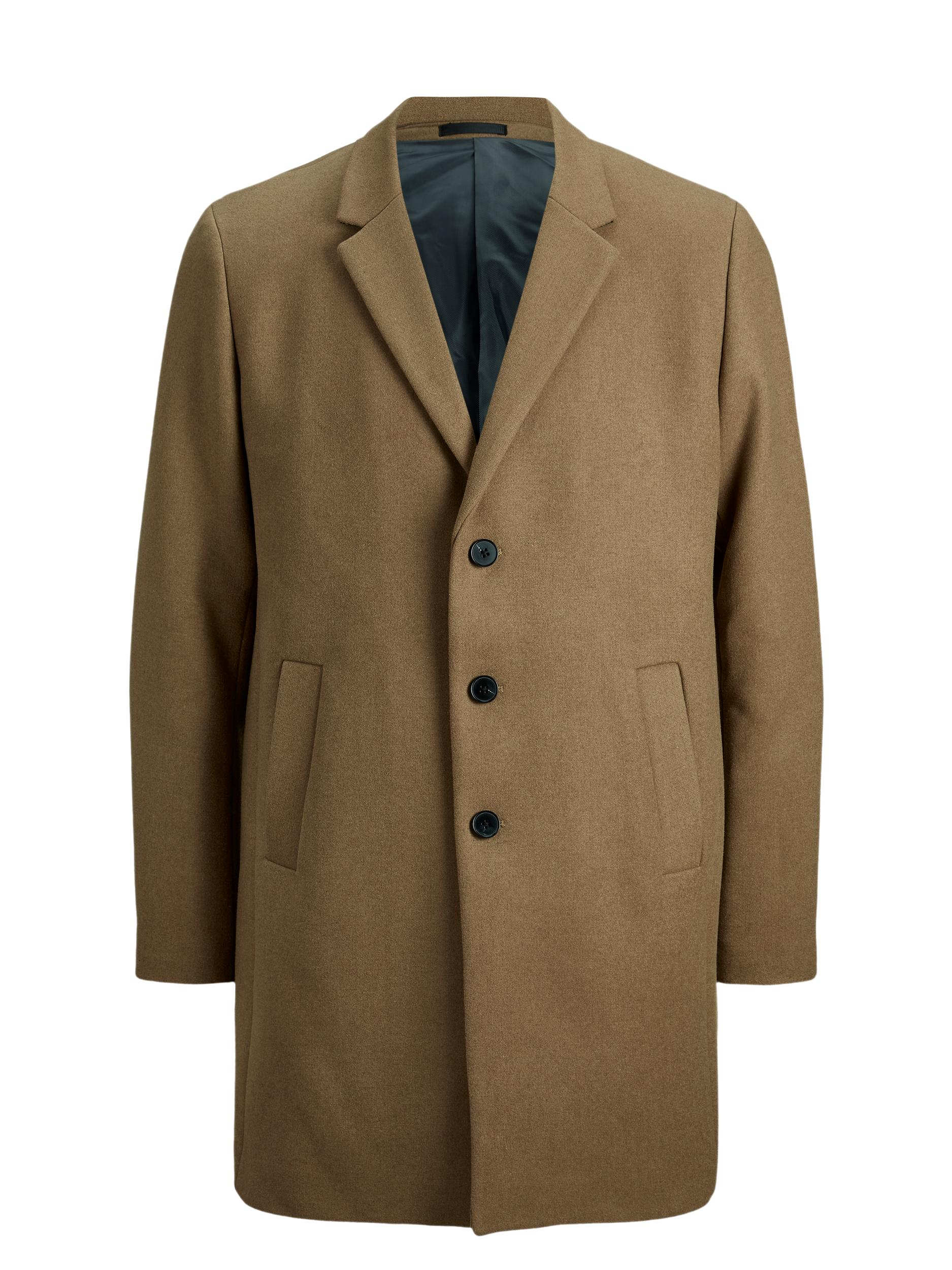 Jack & Jones Moulder uld frakke, khaki, large
