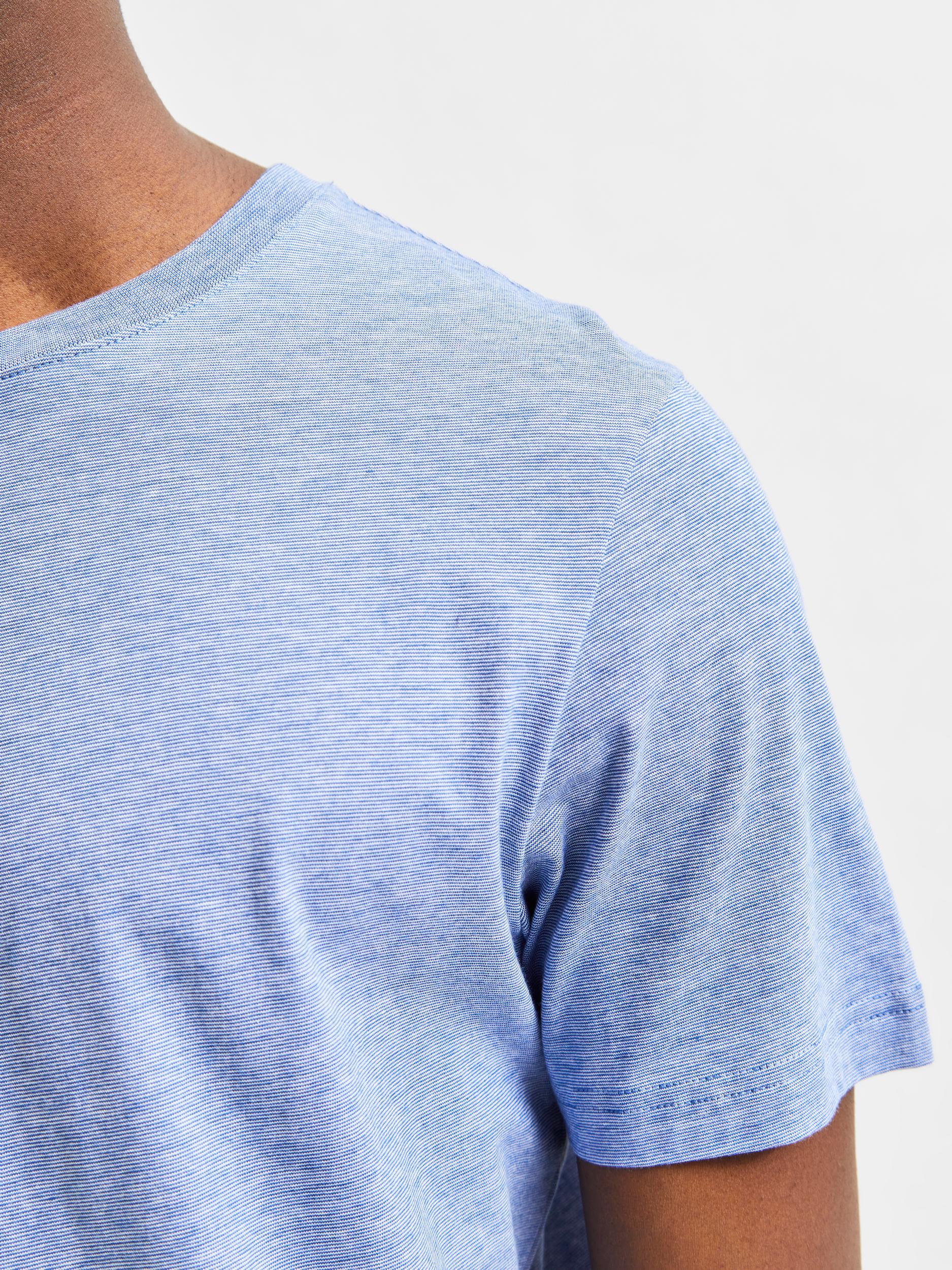 Selected Homme Norman Mini Stripe t-shirt, limoges, medium