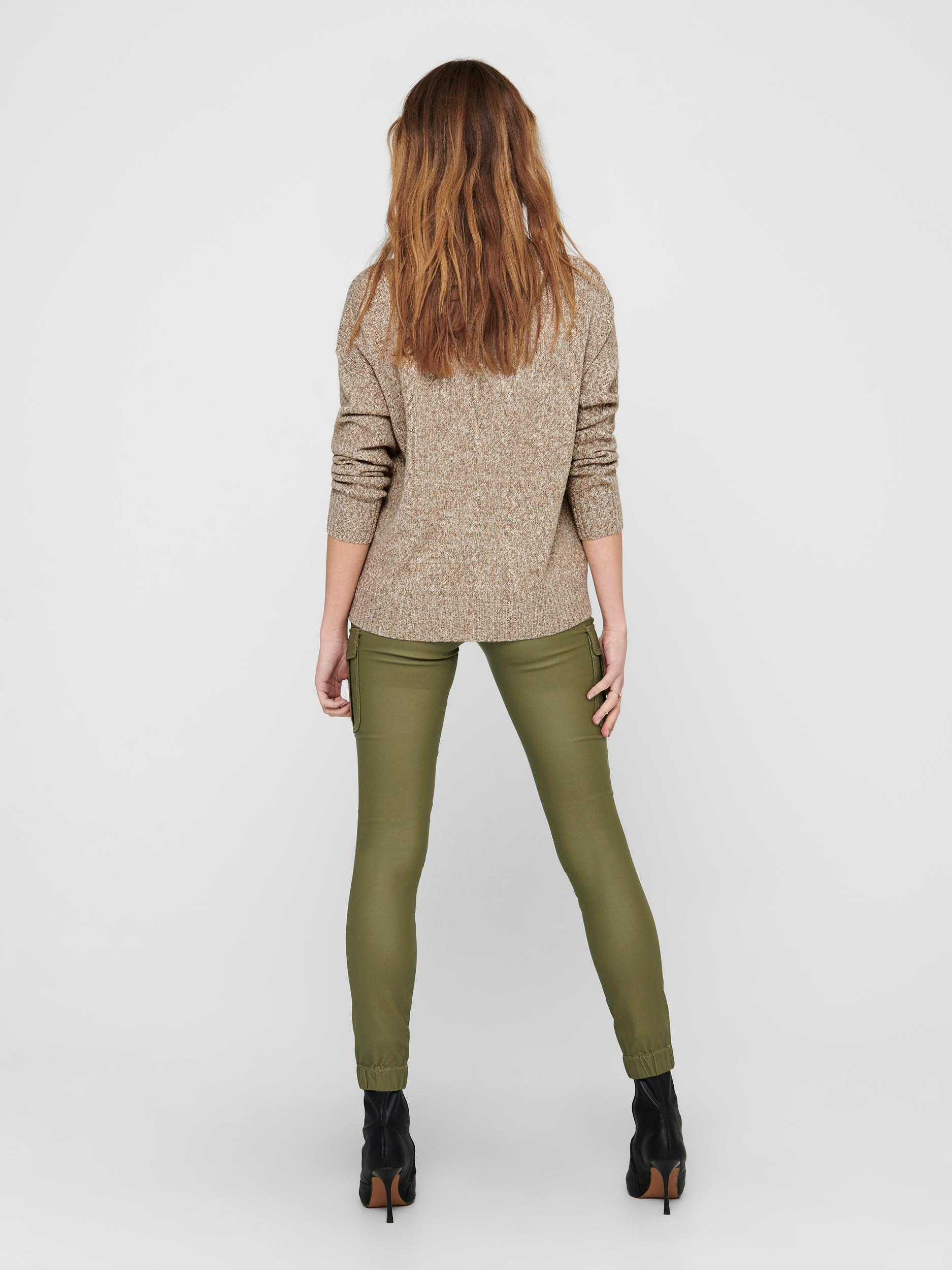 Jacqueline de Yong Gitta sweater, lead gray, x-large