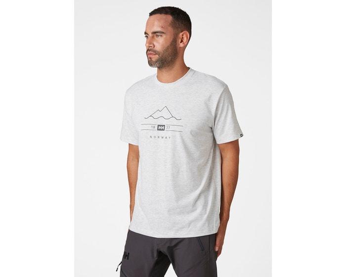 Helly Hansen Skog Graphic t-shirt, grey fog, large