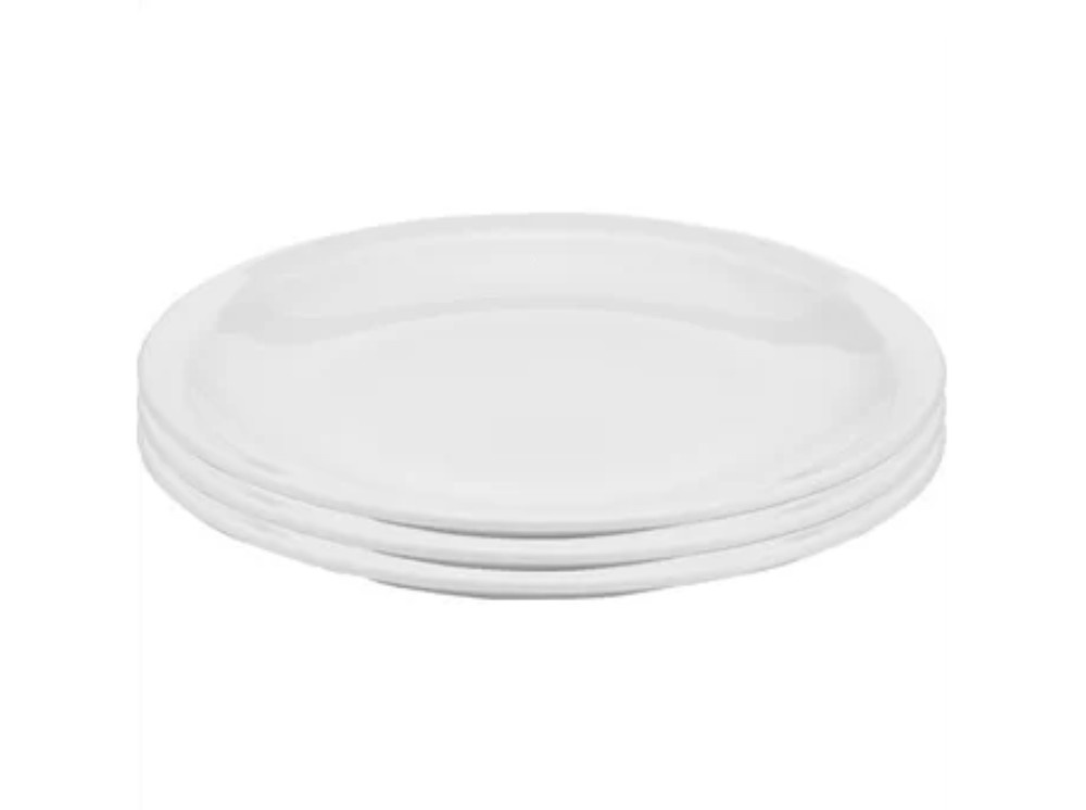 Pillivuyt Bourges middagstallerken, Ø27 cm, hvid, 3 stk