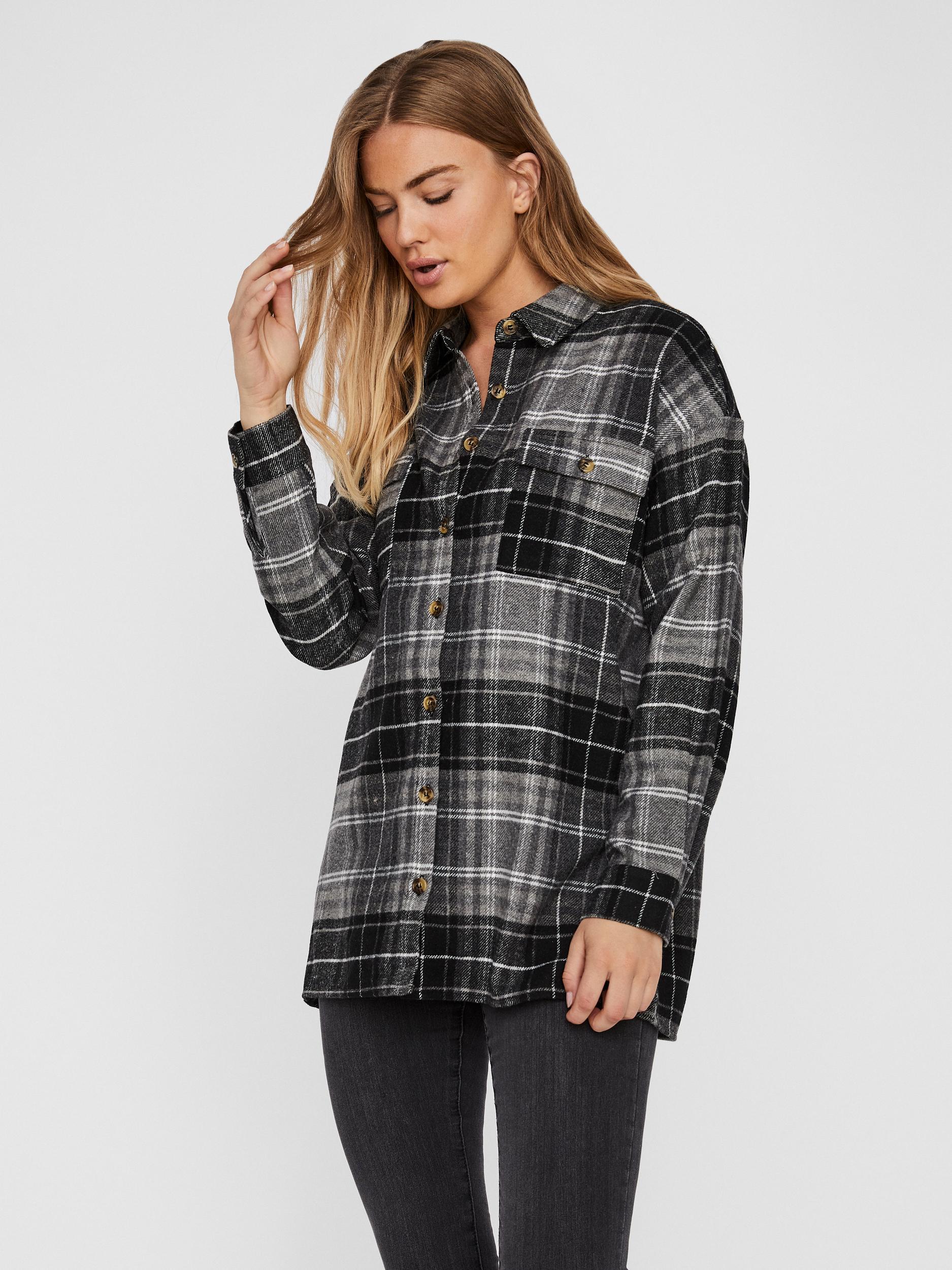 Noisy May Flanny skjortejakke, Grå, M