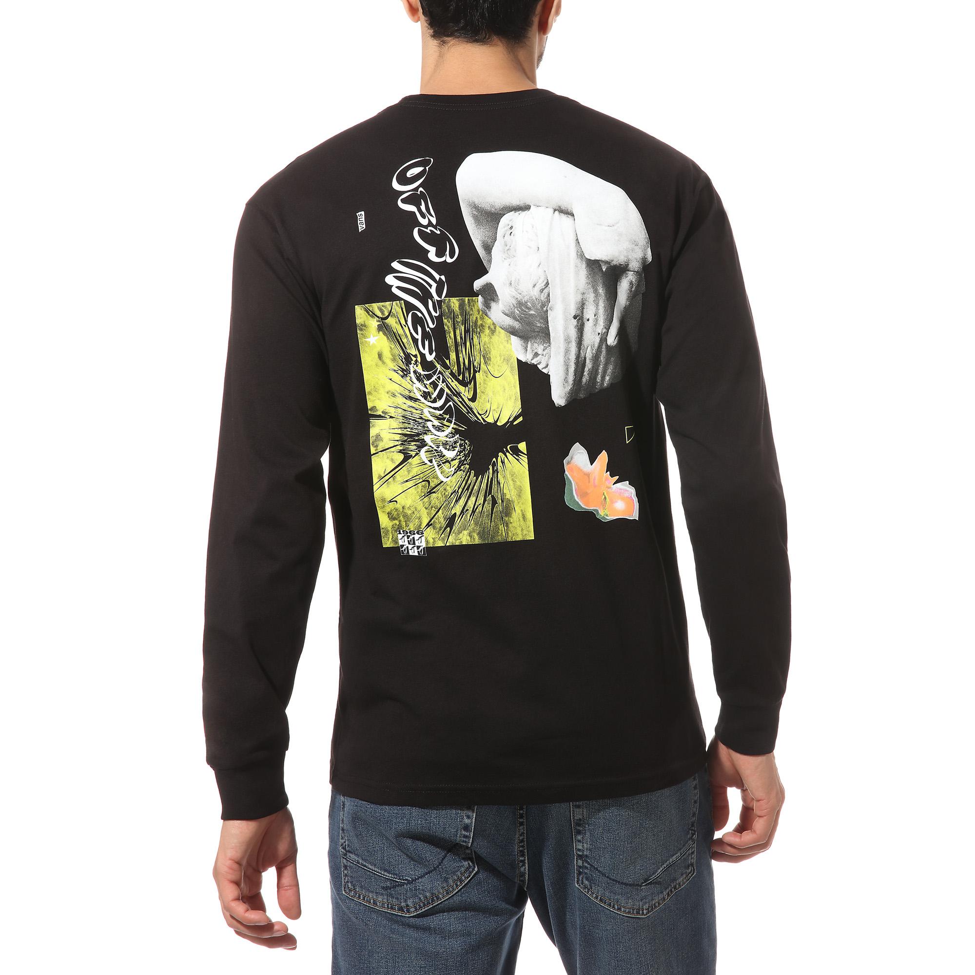 Vans Warped Collage long sleeve t-shirt, black, medium