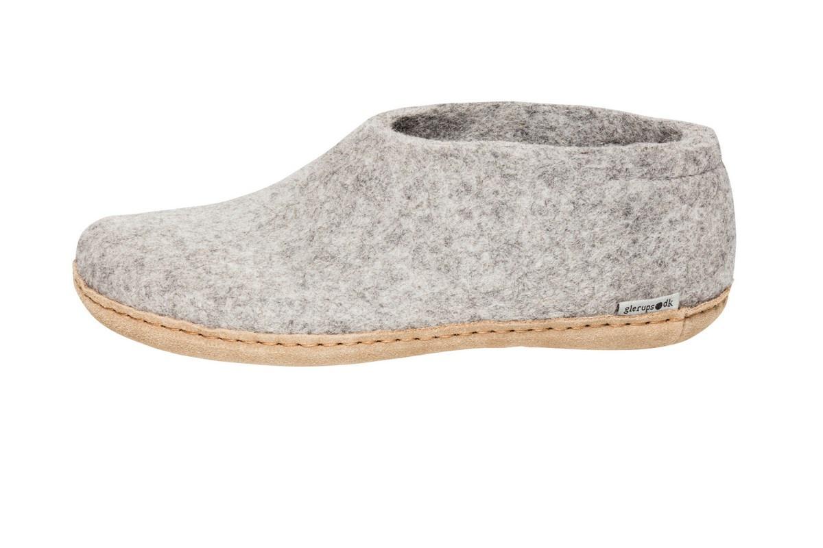 Glerups sko med skindsål, koksgrå, 37