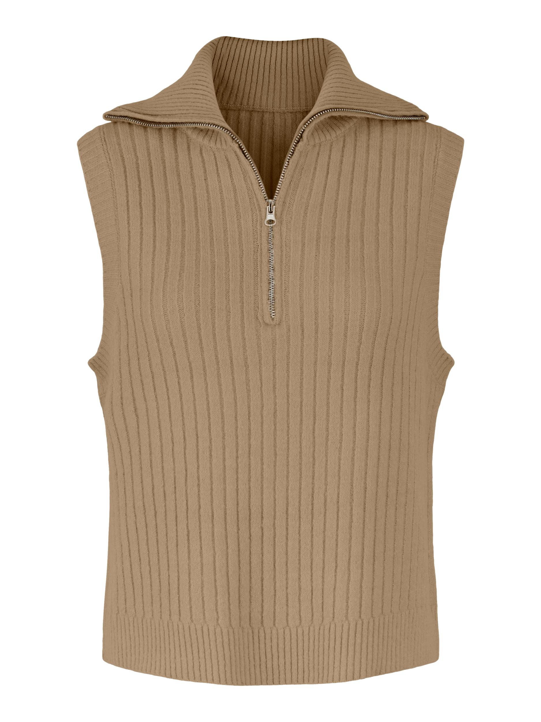Pieces Angi knit vest, tannin, x-large