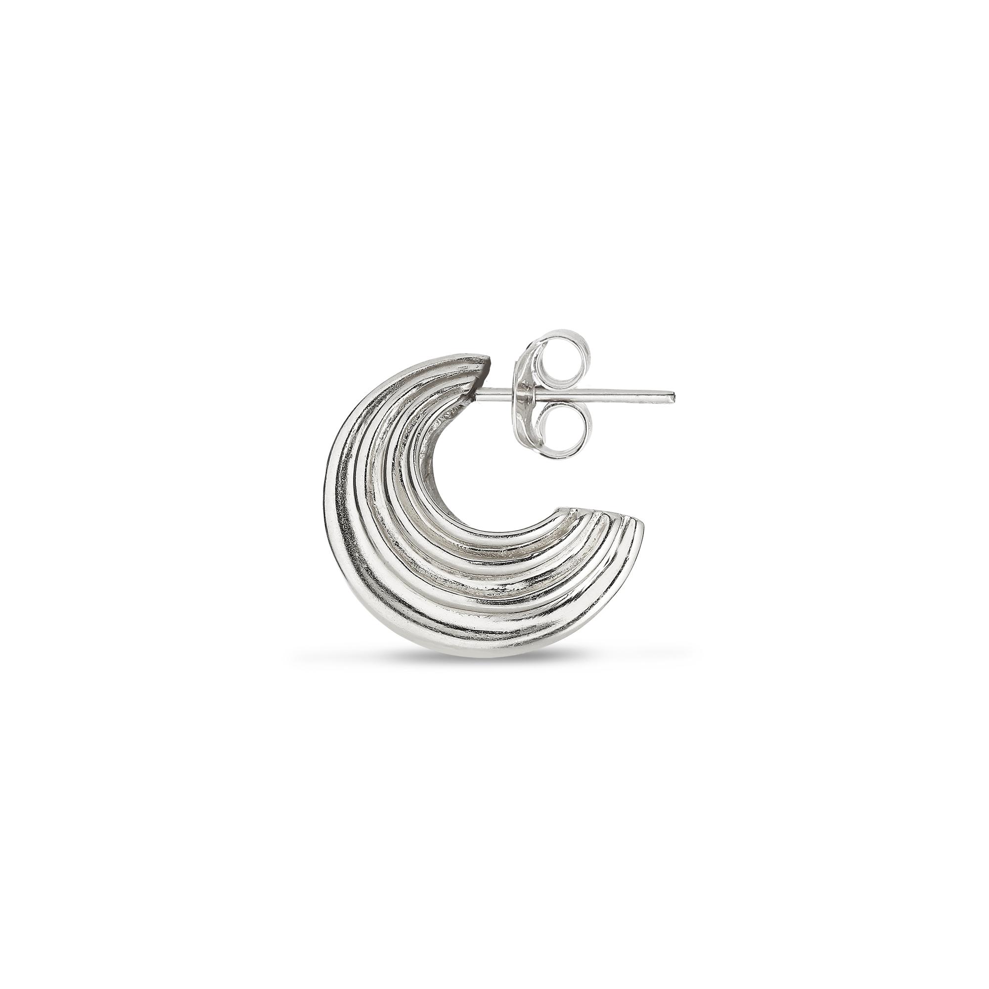 Jane Kønig Sculpture ørering, sølv