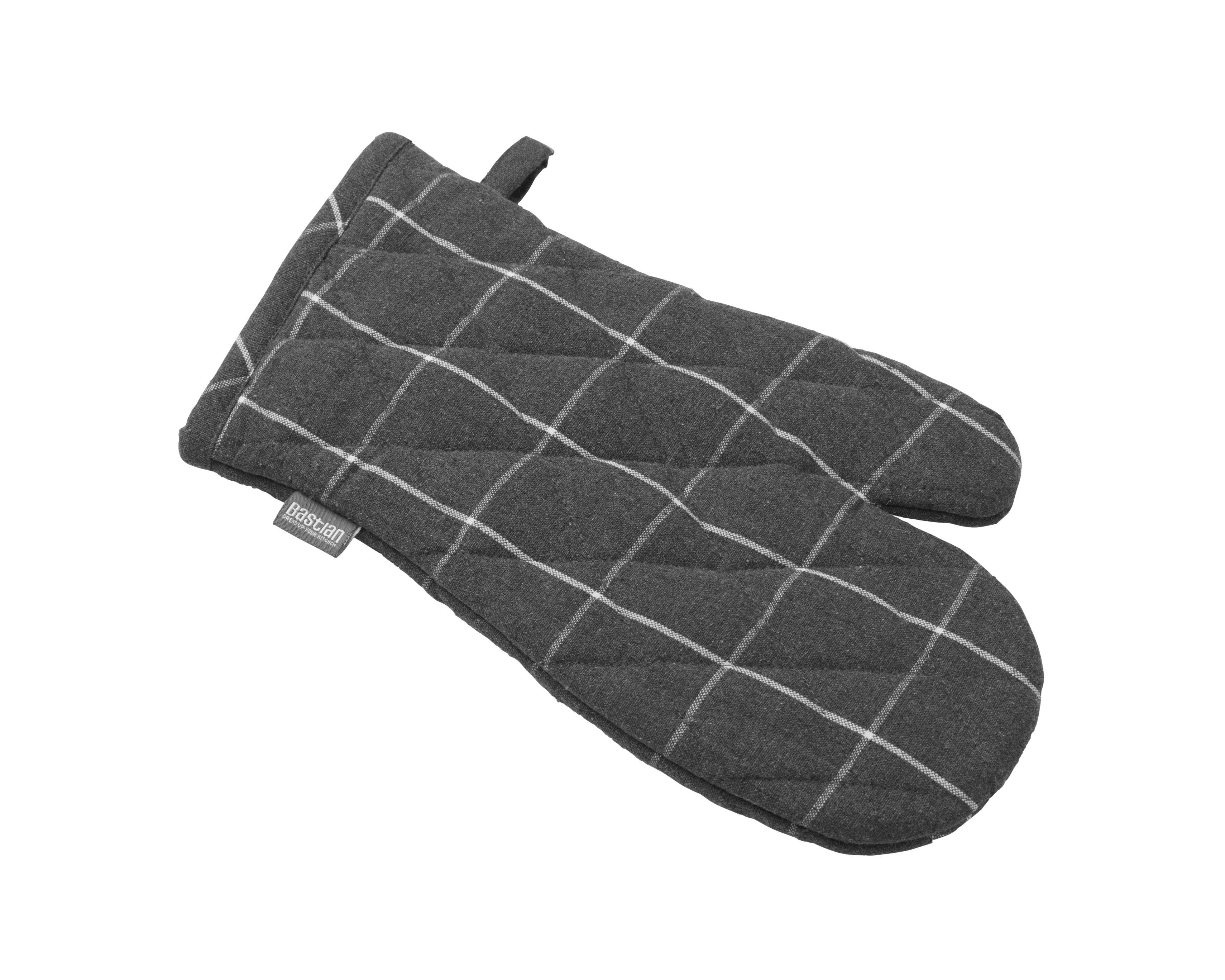 Bastian Recycle grillhandske, ternet mørkegrå