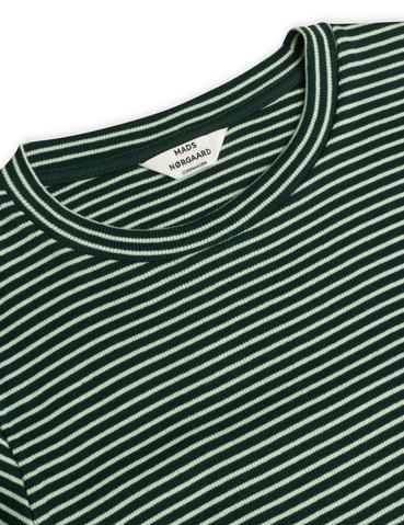 Mads Nørgaard 2x2 Cotton Stripe Tuba bluse, multi scarab, small