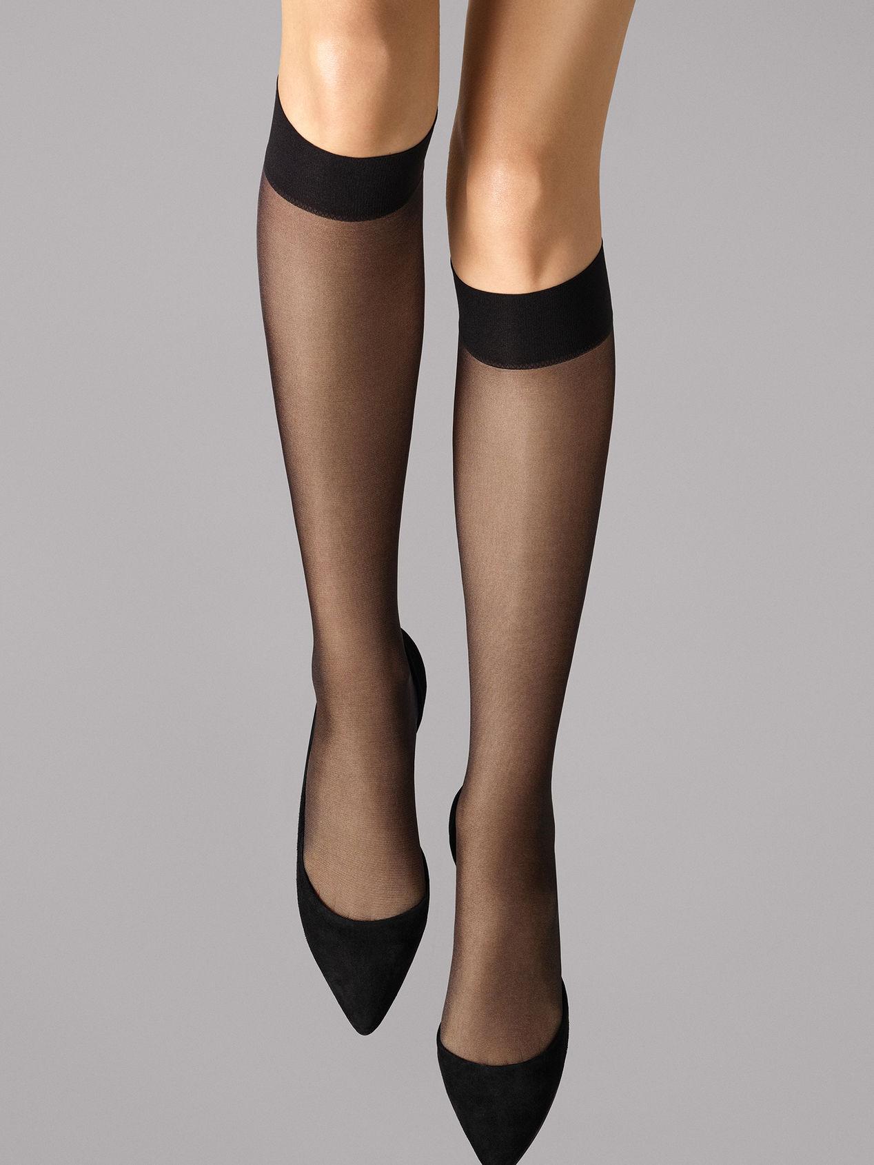 Wolford Satin Touch 20 Knee-Highs, black, medium