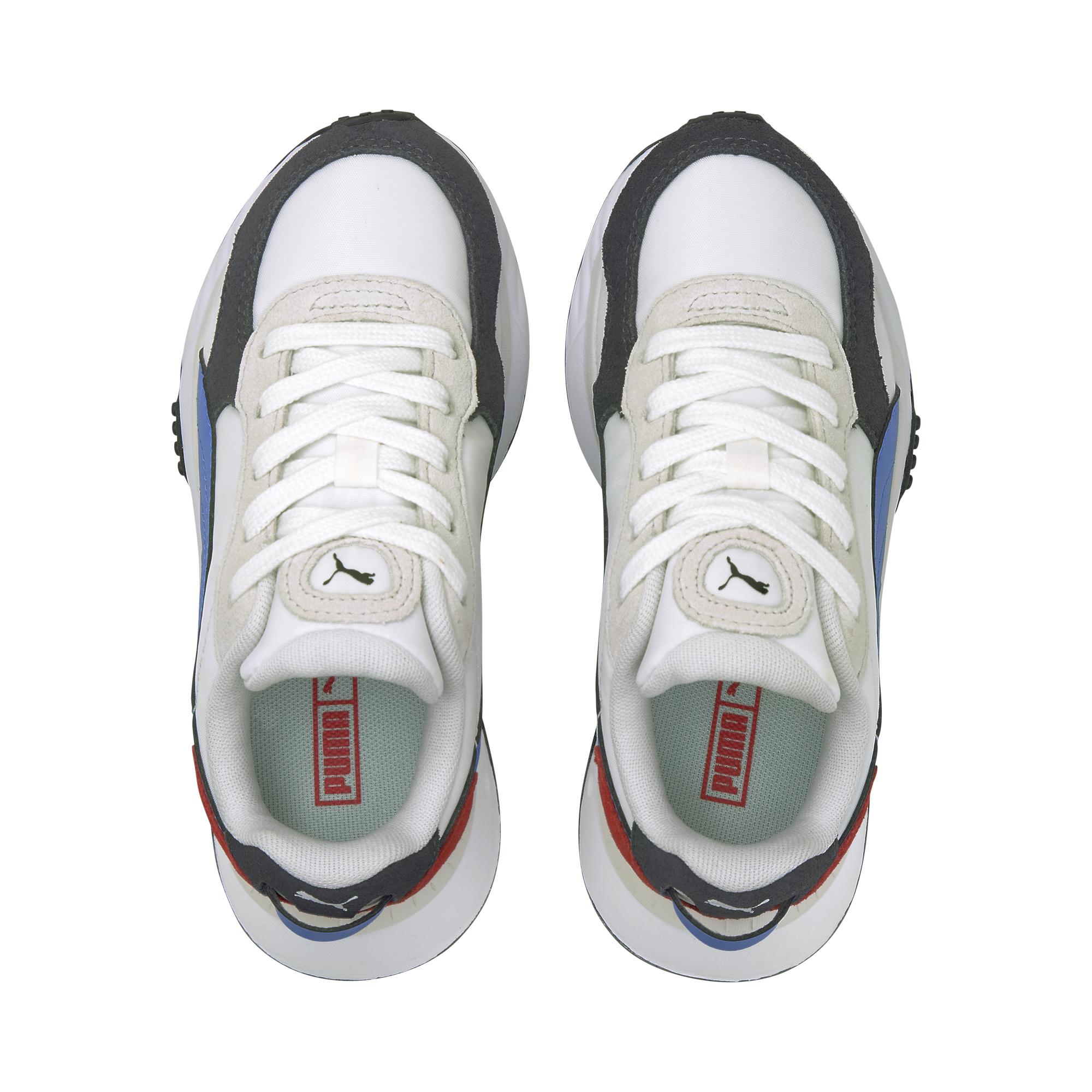 Puma Wild Rider Rollin' PS Sneakers, Ebony, 34