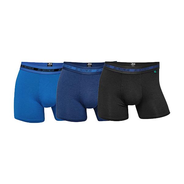 JBS 3-pak bambus tights, blue, large