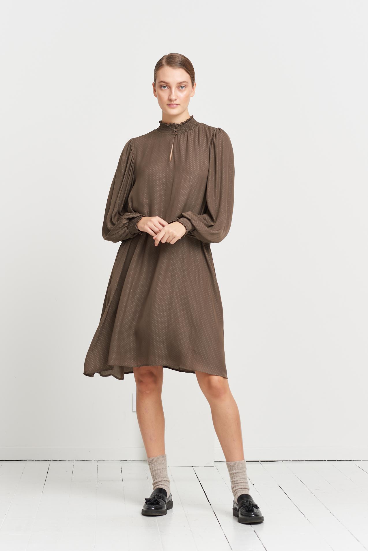 Bruuns Bazaar Prickly S Mette kjole, major brown, 38