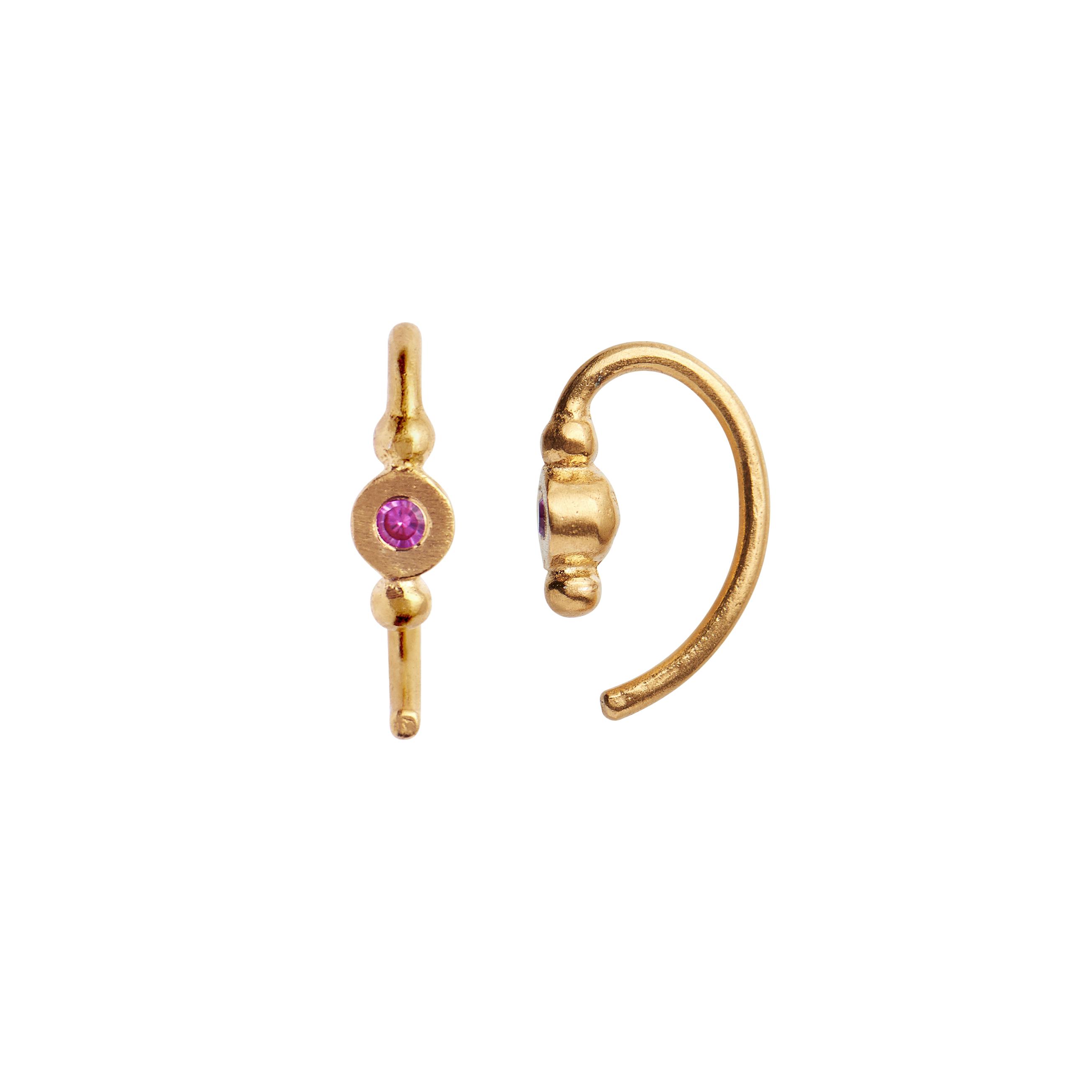 Stine A Petit Bon-Bon ørering, guld/pink