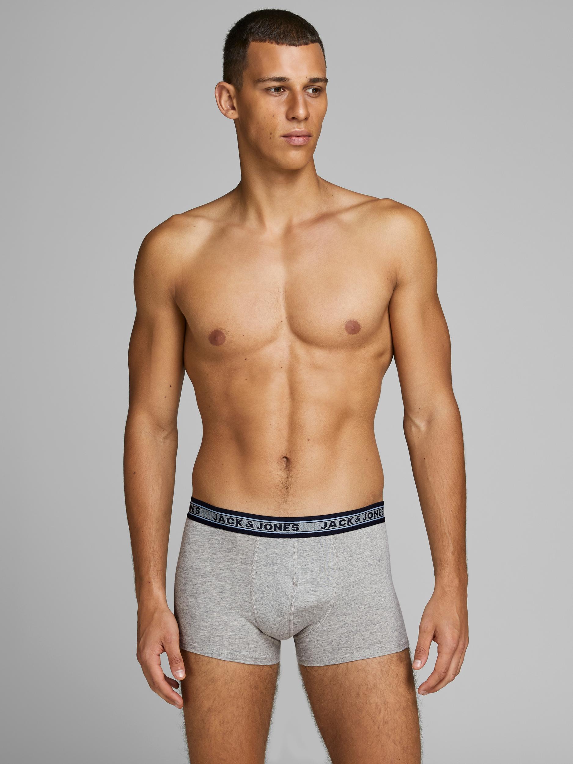 Jack & Jones 5-pak Oliver boxershorts, dark grey melange, large