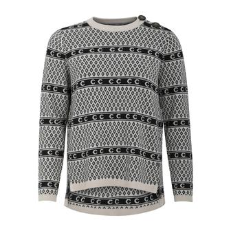 Coster Copenhagen Icelandic sweater, cream/black, medium