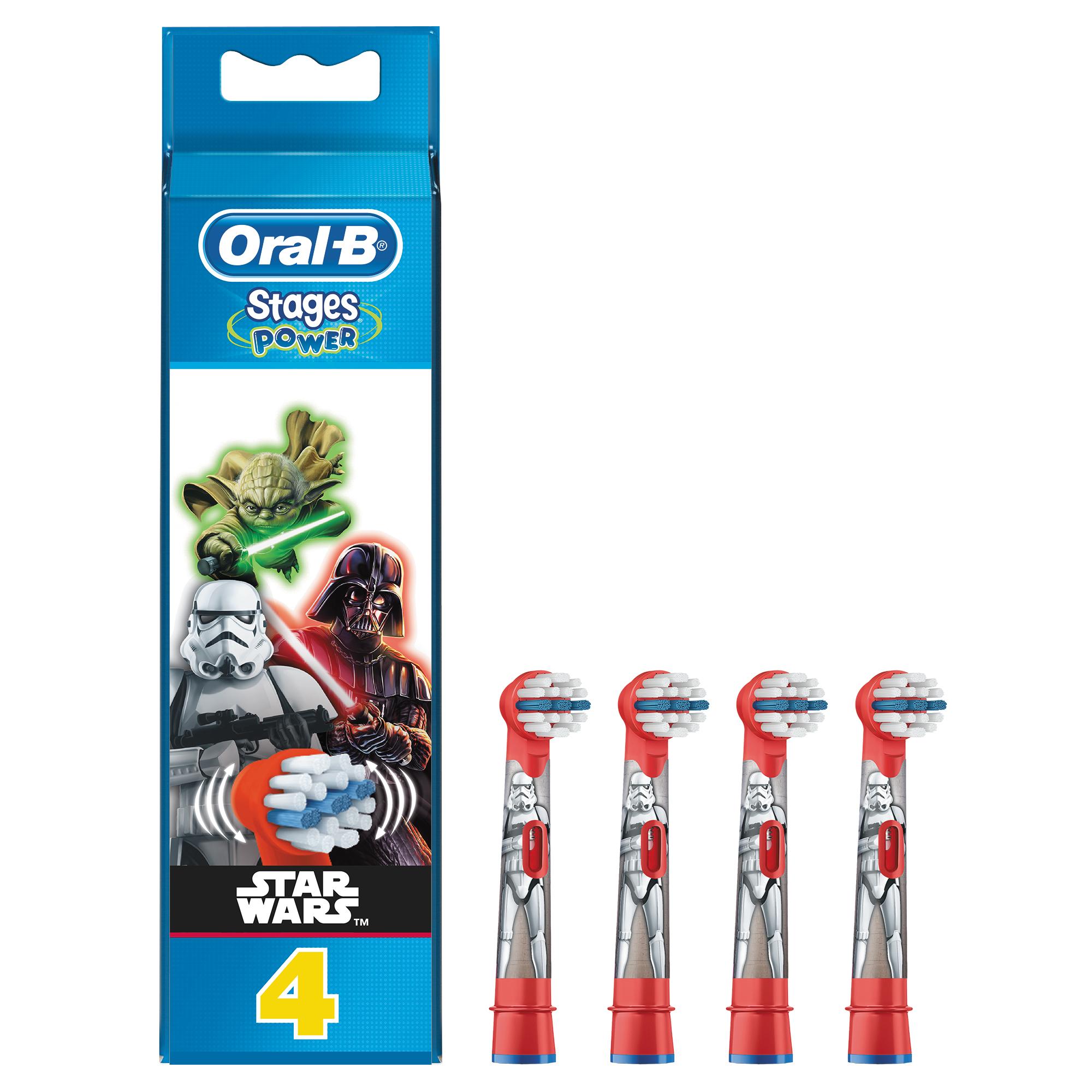 Oral-B Stages Power Star Wars børstehoved, 4 stk