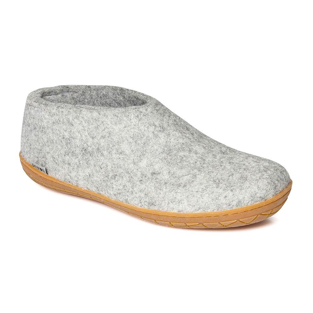 Glerups sko med naturgummisål, grå, 40