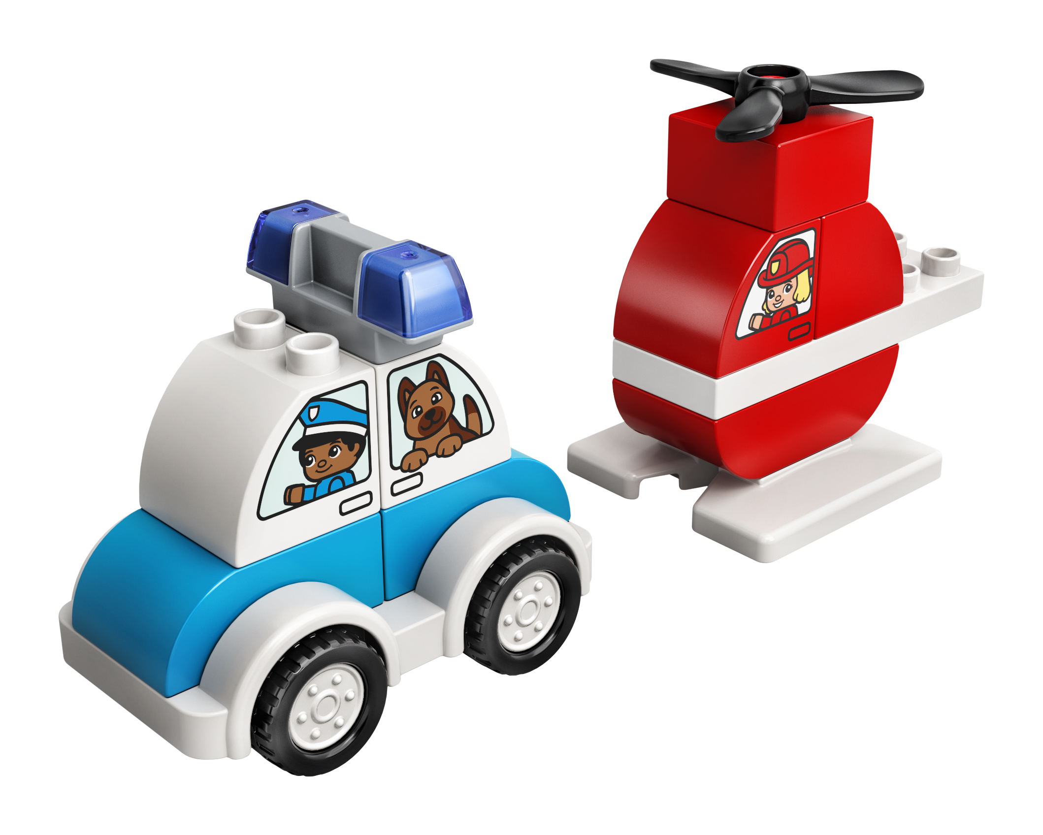 LEGO DUPLO Brandslukningshelikopter og politibil - 10957