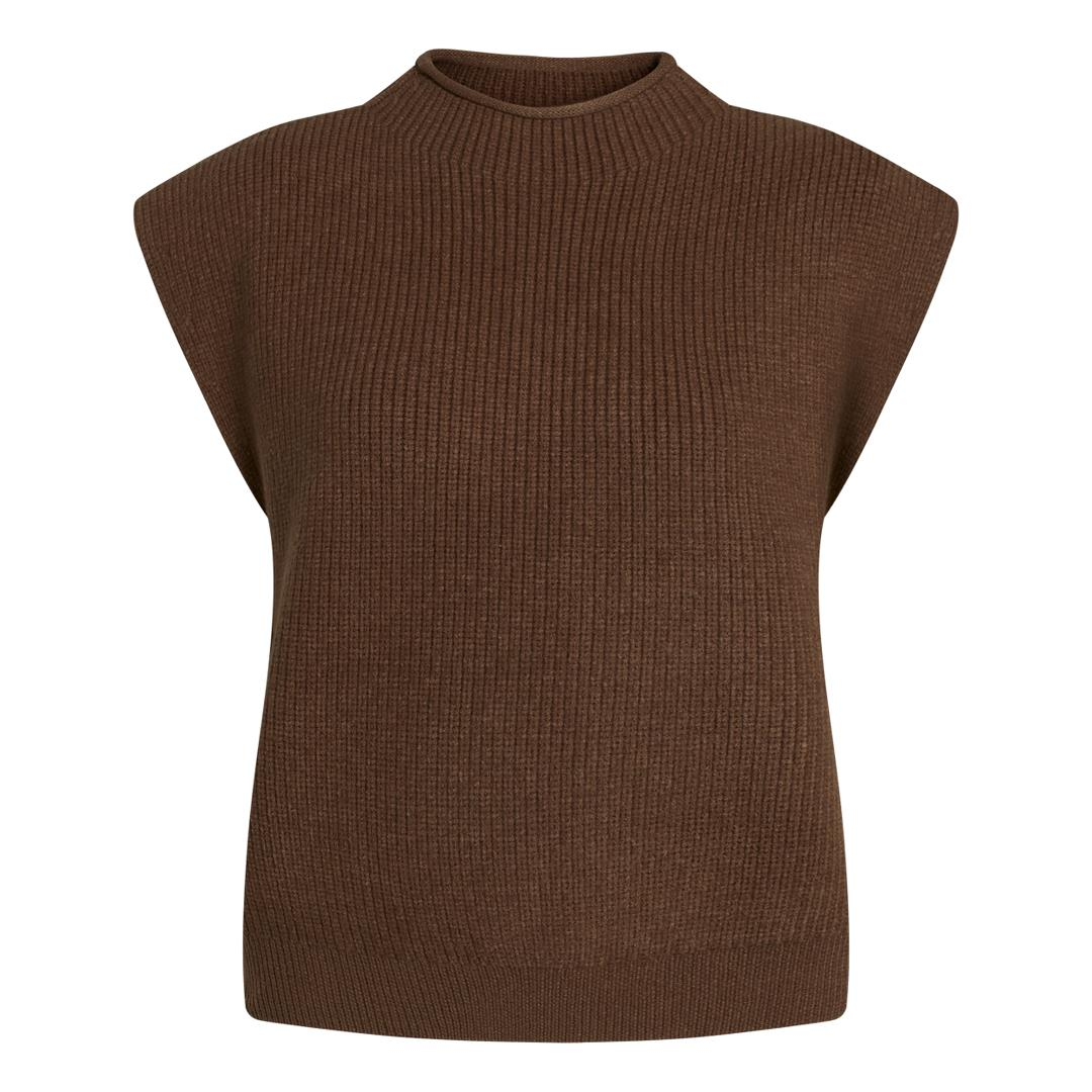 CoCouture Row Wing strikvest, Chocolate, L