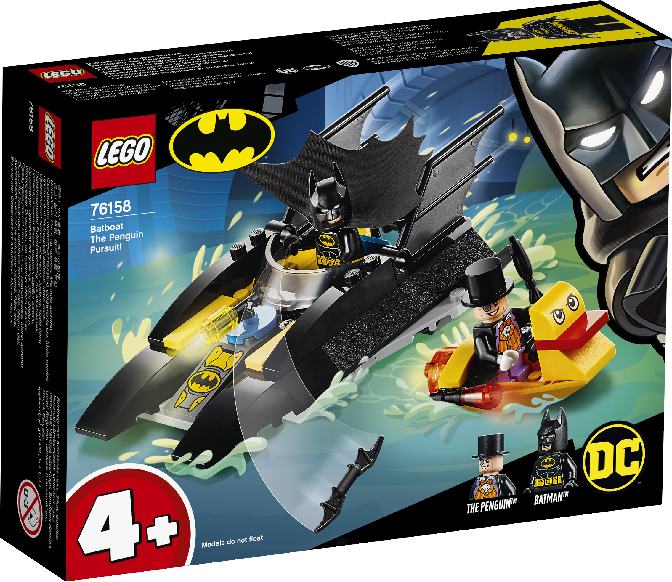 LEGO Super Hero Batbåd - Pingvinjagten! - 76158