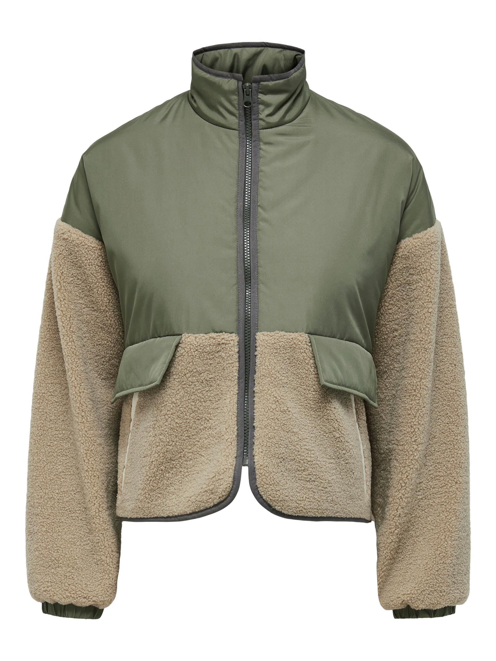 ONLY Ariko Mix Teddy jakke, deep lichen green, S