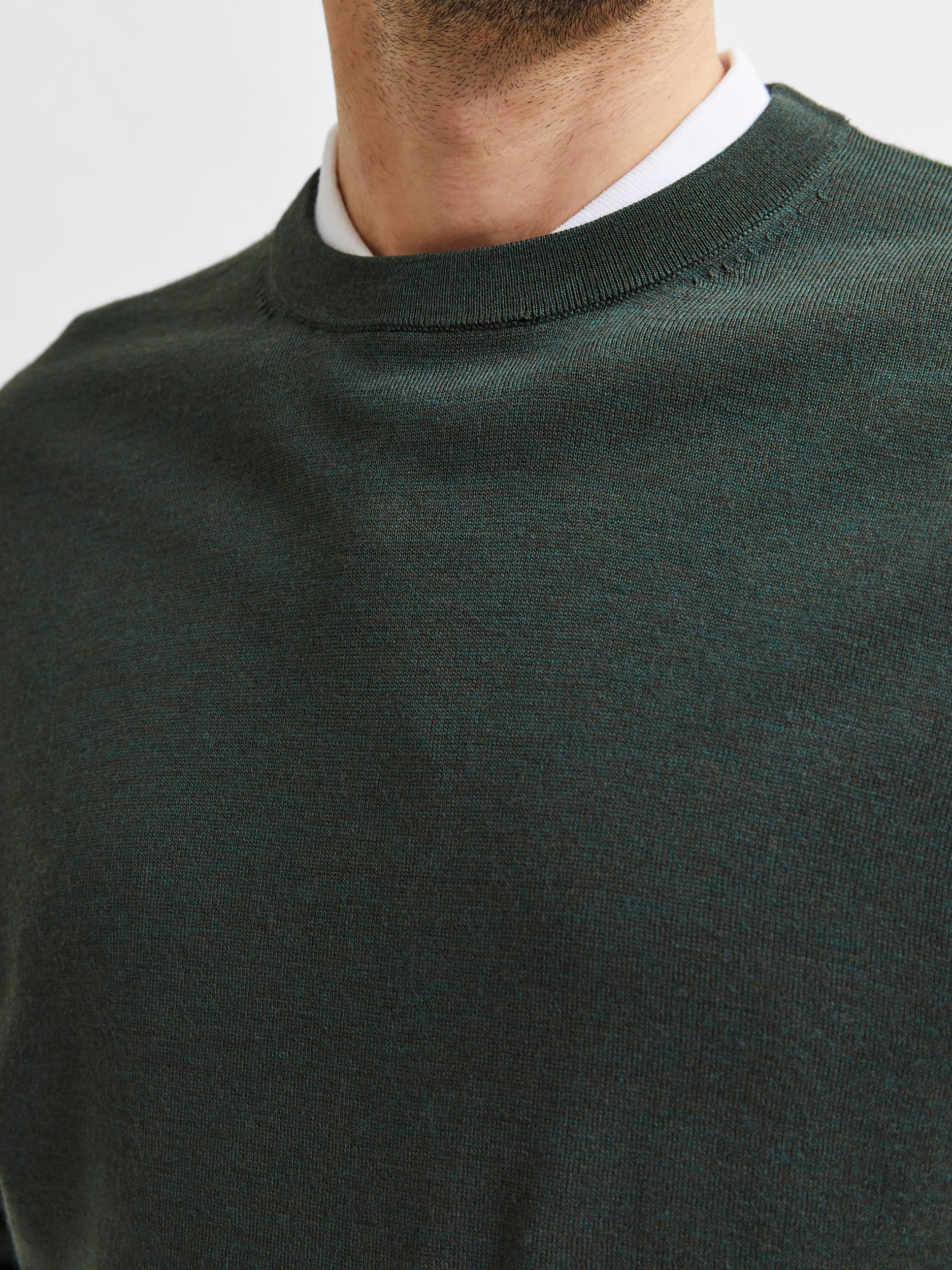 Selected Homme Town Merino LS trøje, darkest spruce, x-large