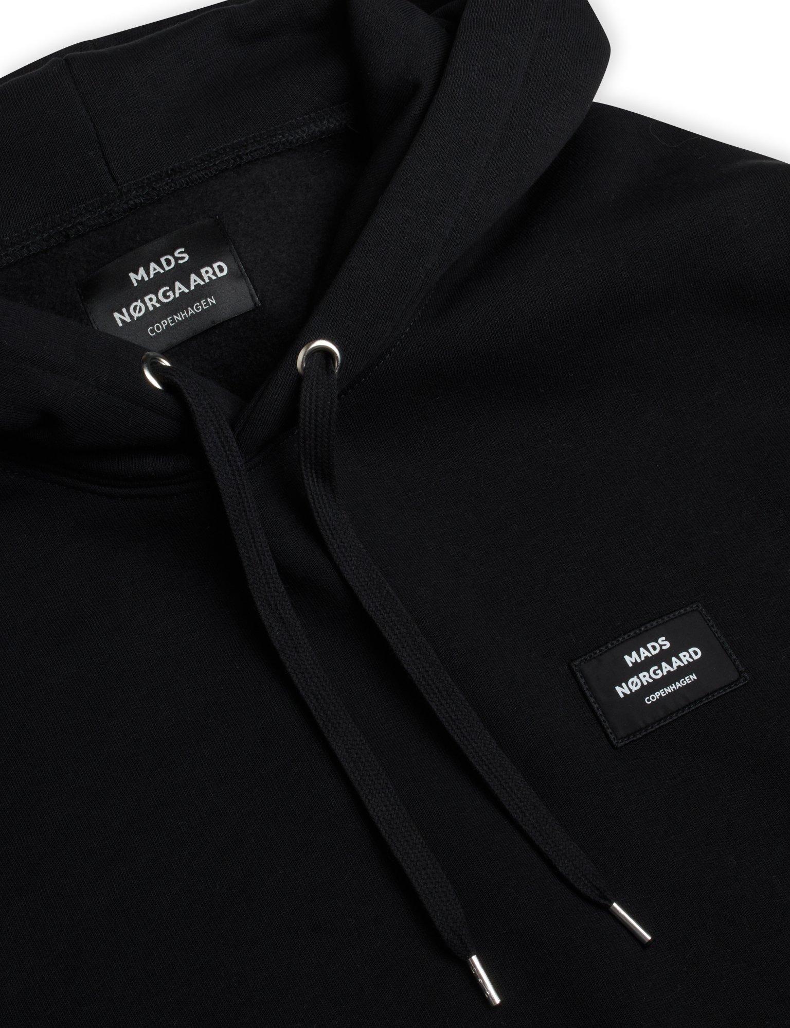 Mads Nørgaard New Standard badge hoodie, black, medium