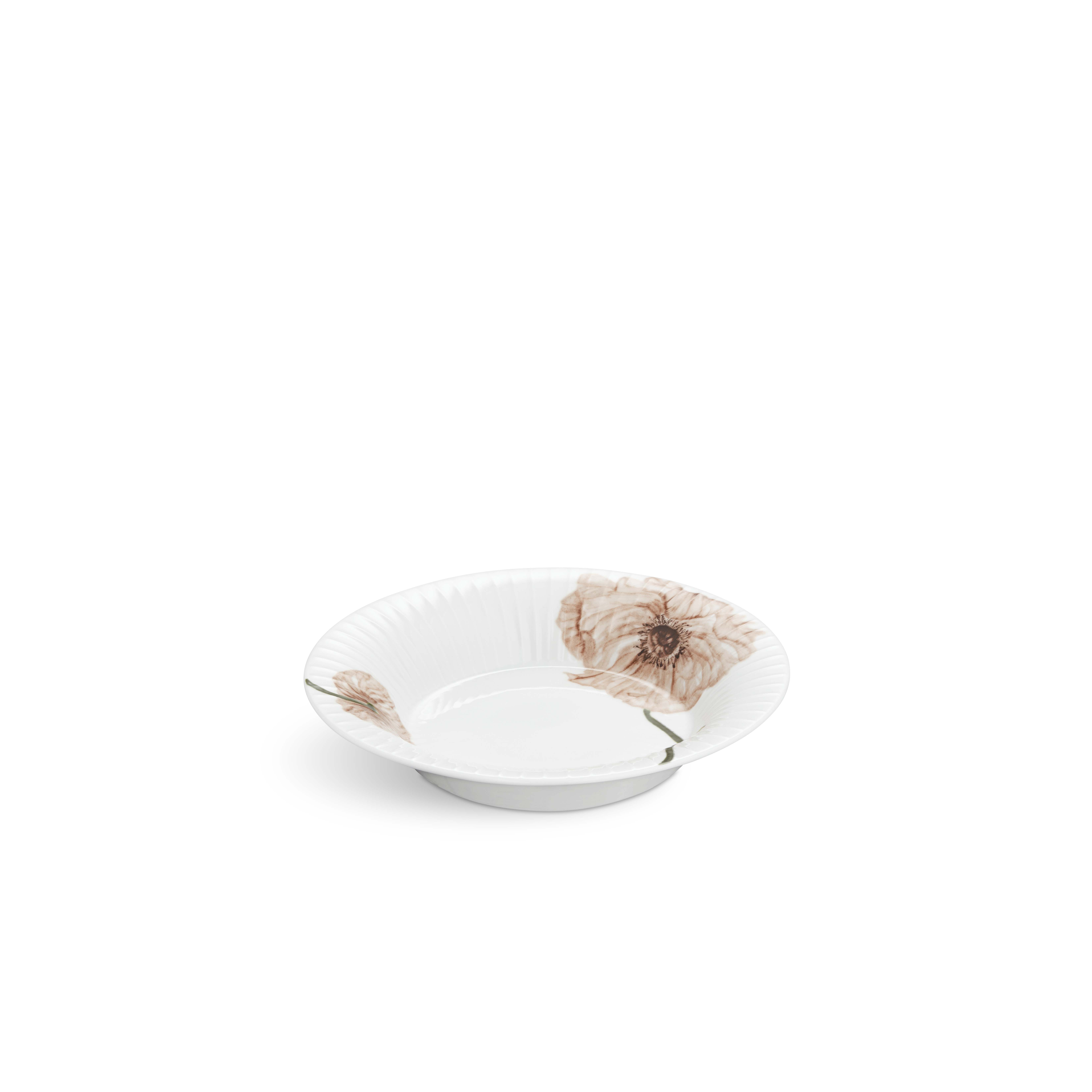 Kähler Hammershøi Poppy dyb tallerken, Ø21 cm, hvid