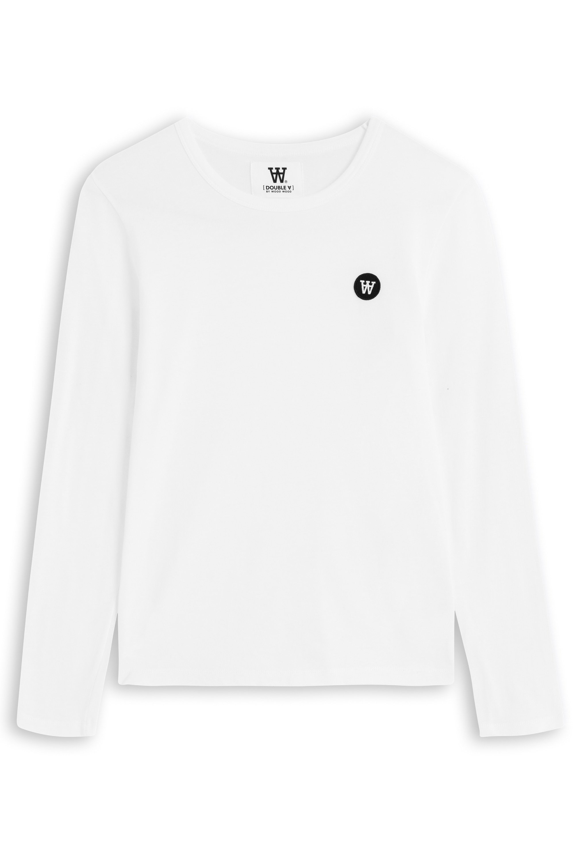 Wood Wood Double A Moa L/S t-shirt, bright white, small