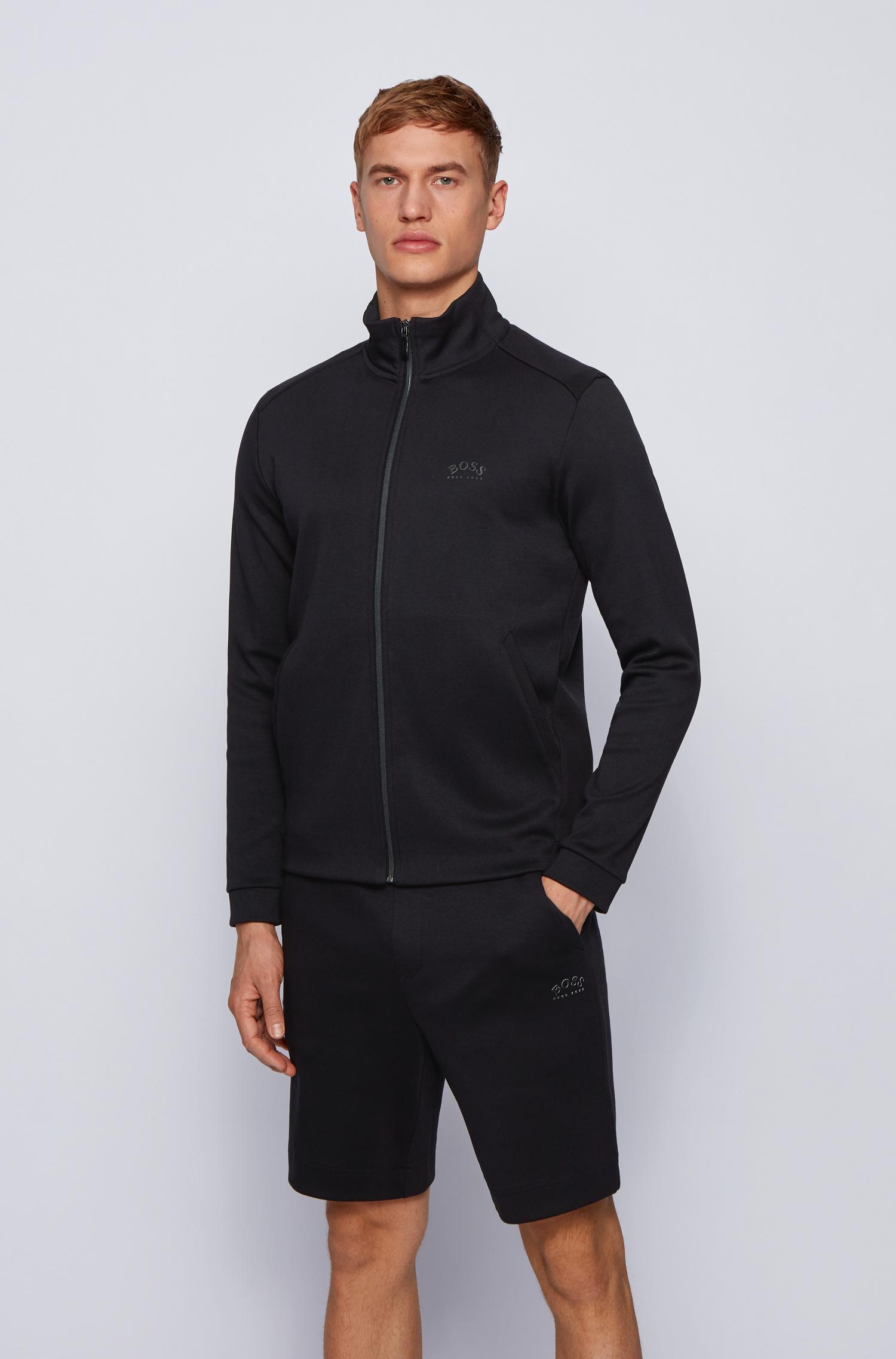 Hugo Boss Zip sweatshirt, black, xxx-large