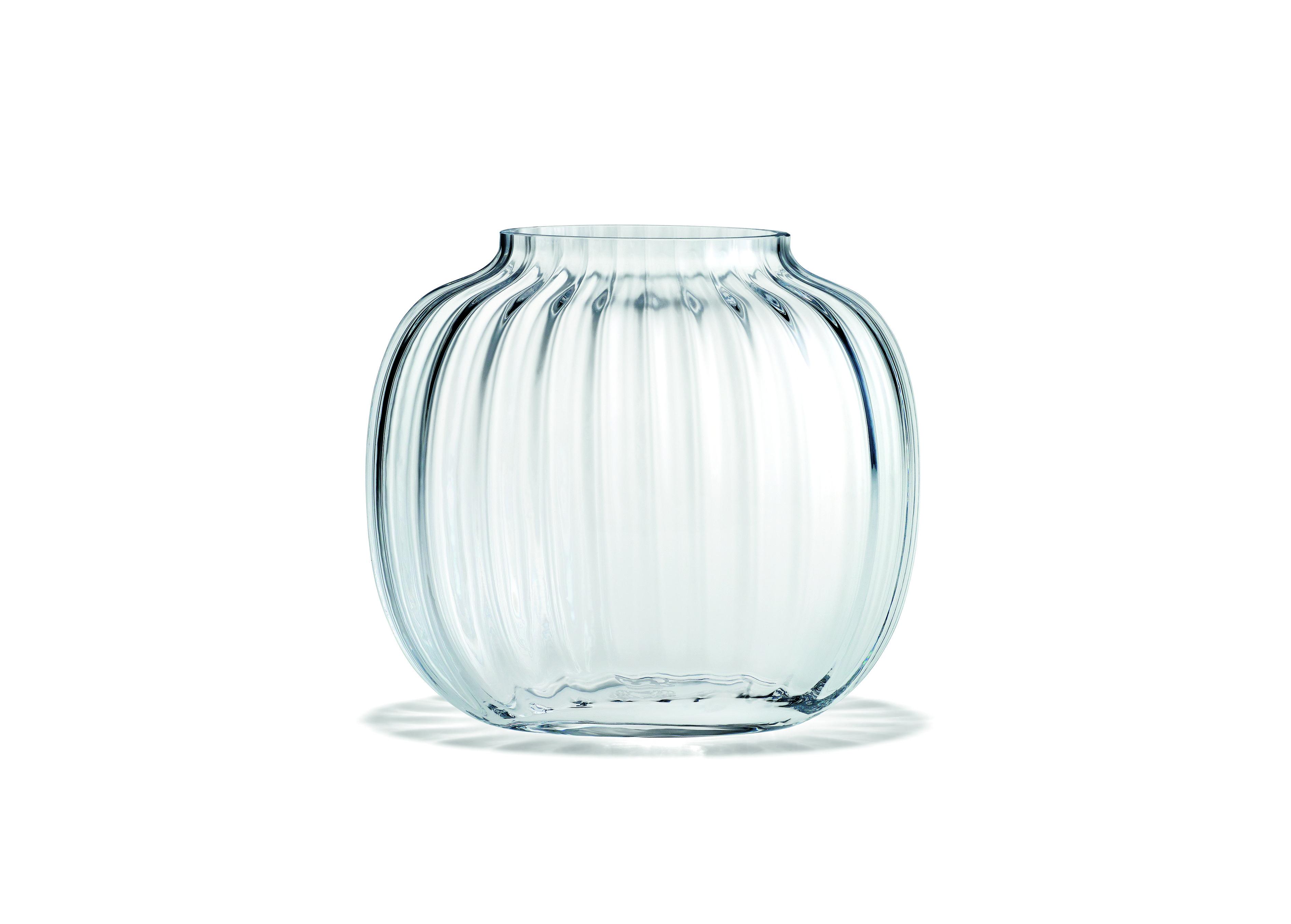 Holmegaard Primula oval vase, 12,5 cm, clear